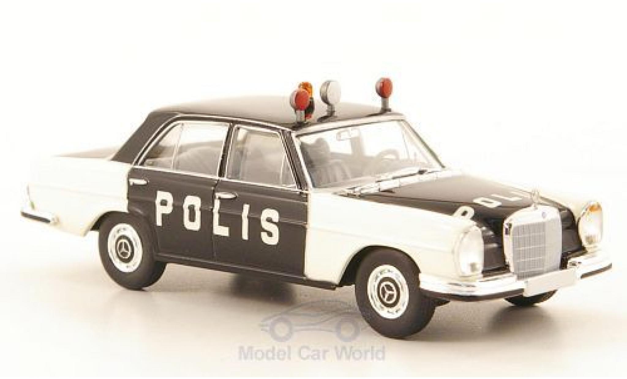 Mercedes 280 SE 1/87 Brekina Starmada SE (W108) Polis Polizei (S)