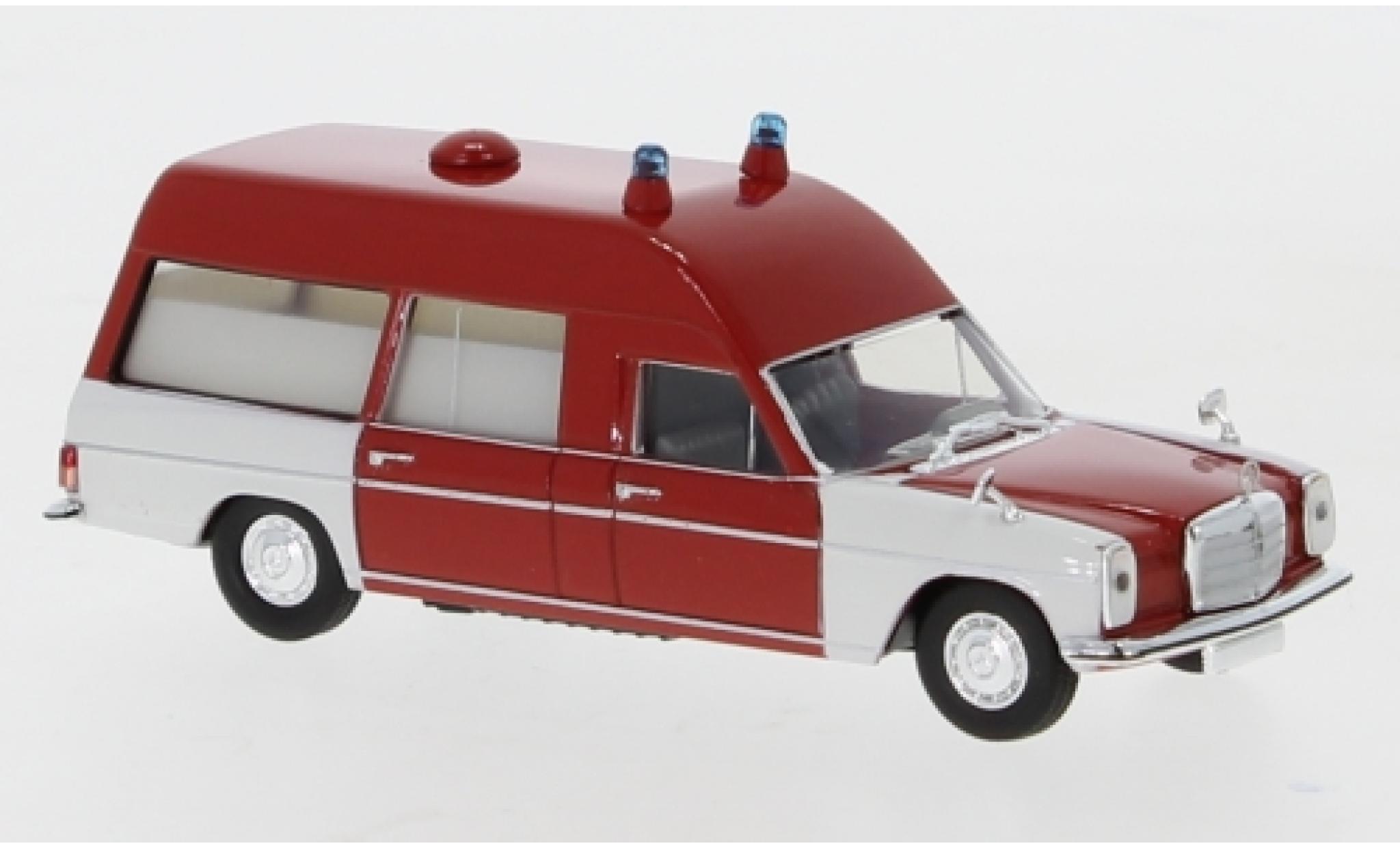 Mercedes /8 1/87 Brekina KTW rouge/blanche 1970