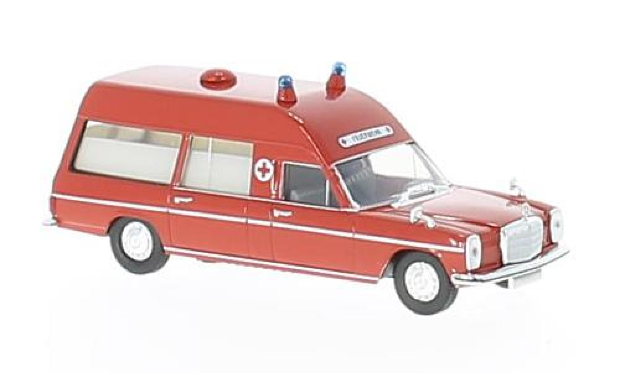 Mercedes /8 1/87 Brekina rouge ambulance