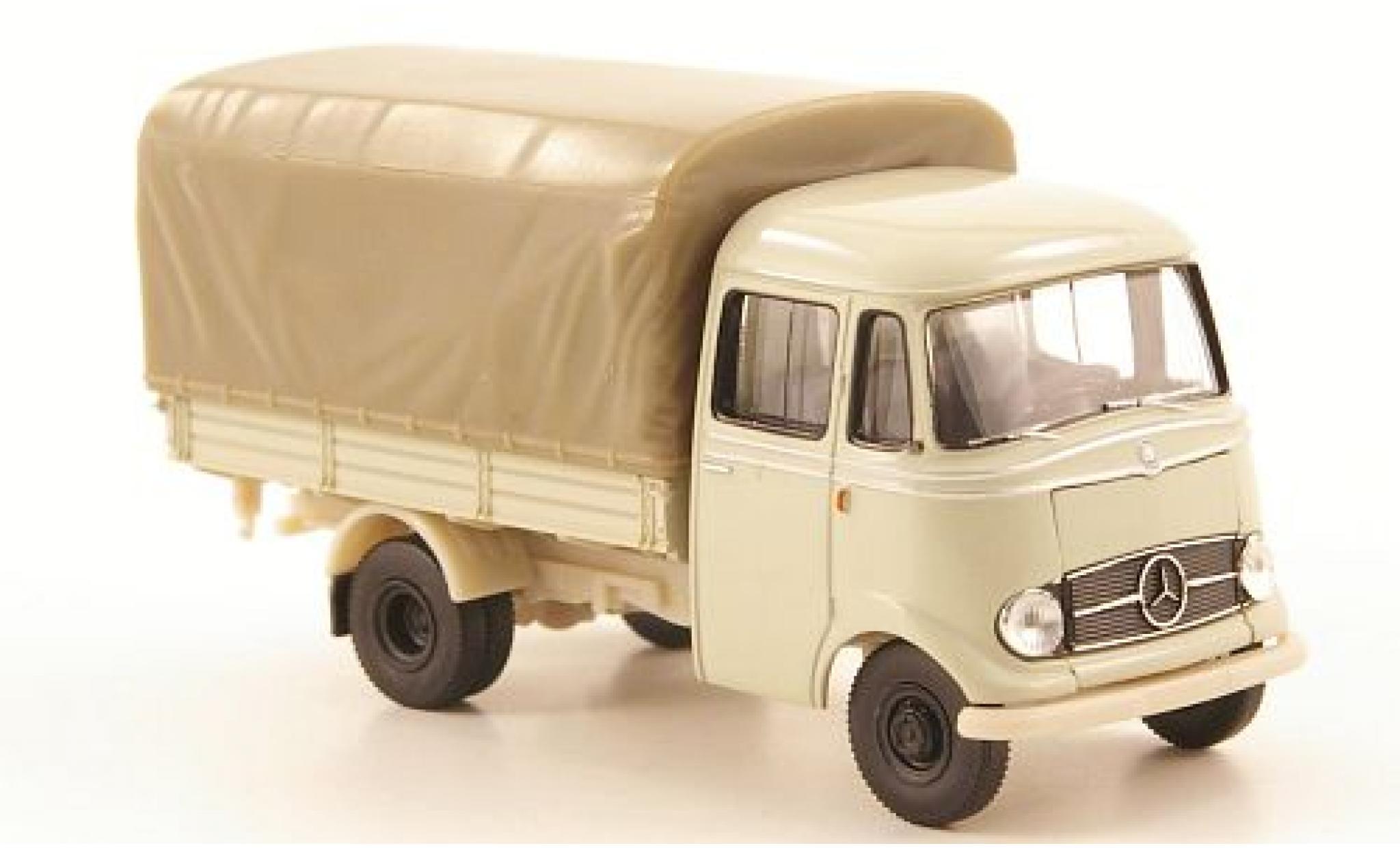Mercedes L319 1/87 Brekina Pritsche blanche