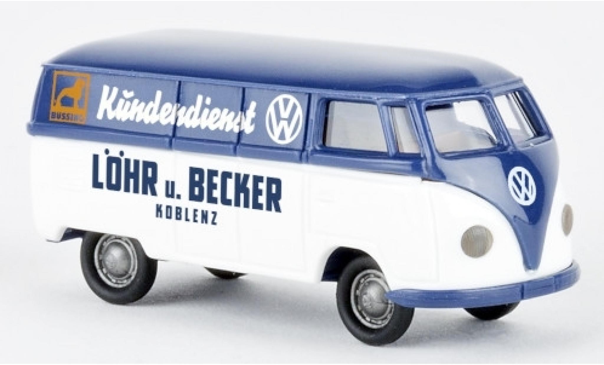 Volkswagen T1 1/87 Brekina a Kasten Löhr u. Becker Kundendienst 1950