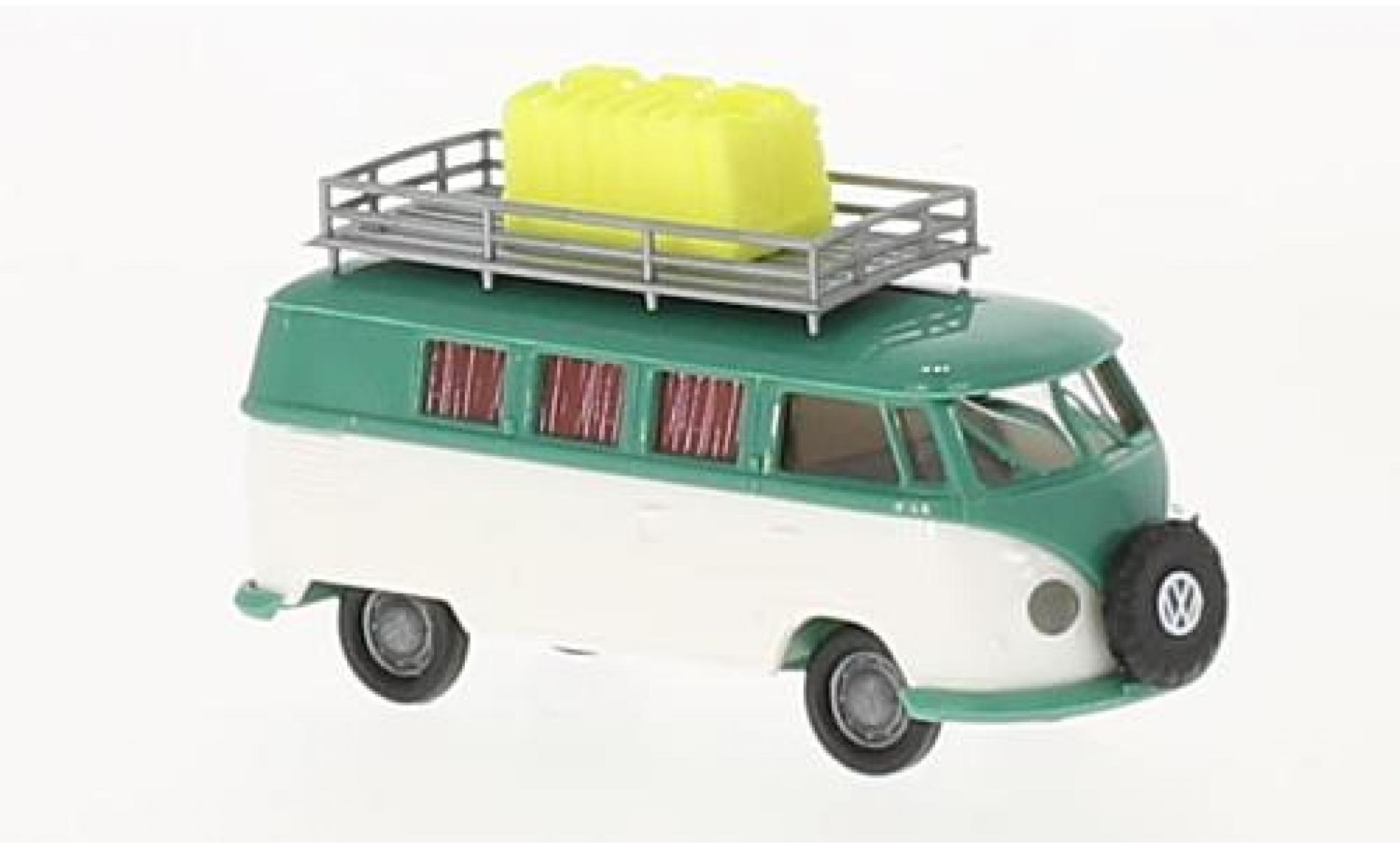 Volkswagen T1 1/87 Brekina b Camper Weltenmbummler avec Benzinkanistern