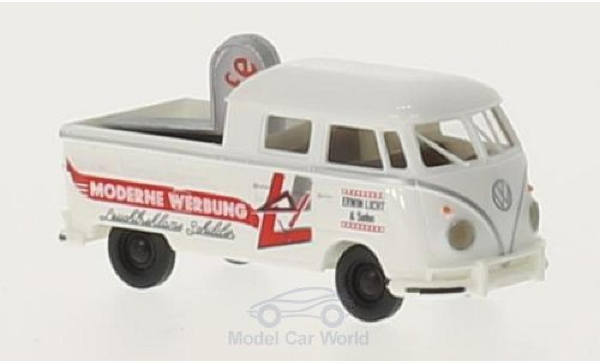 Volkswagen T1 B 1/87 Brekina b DoKa Moderne Werbung mit Ladegut