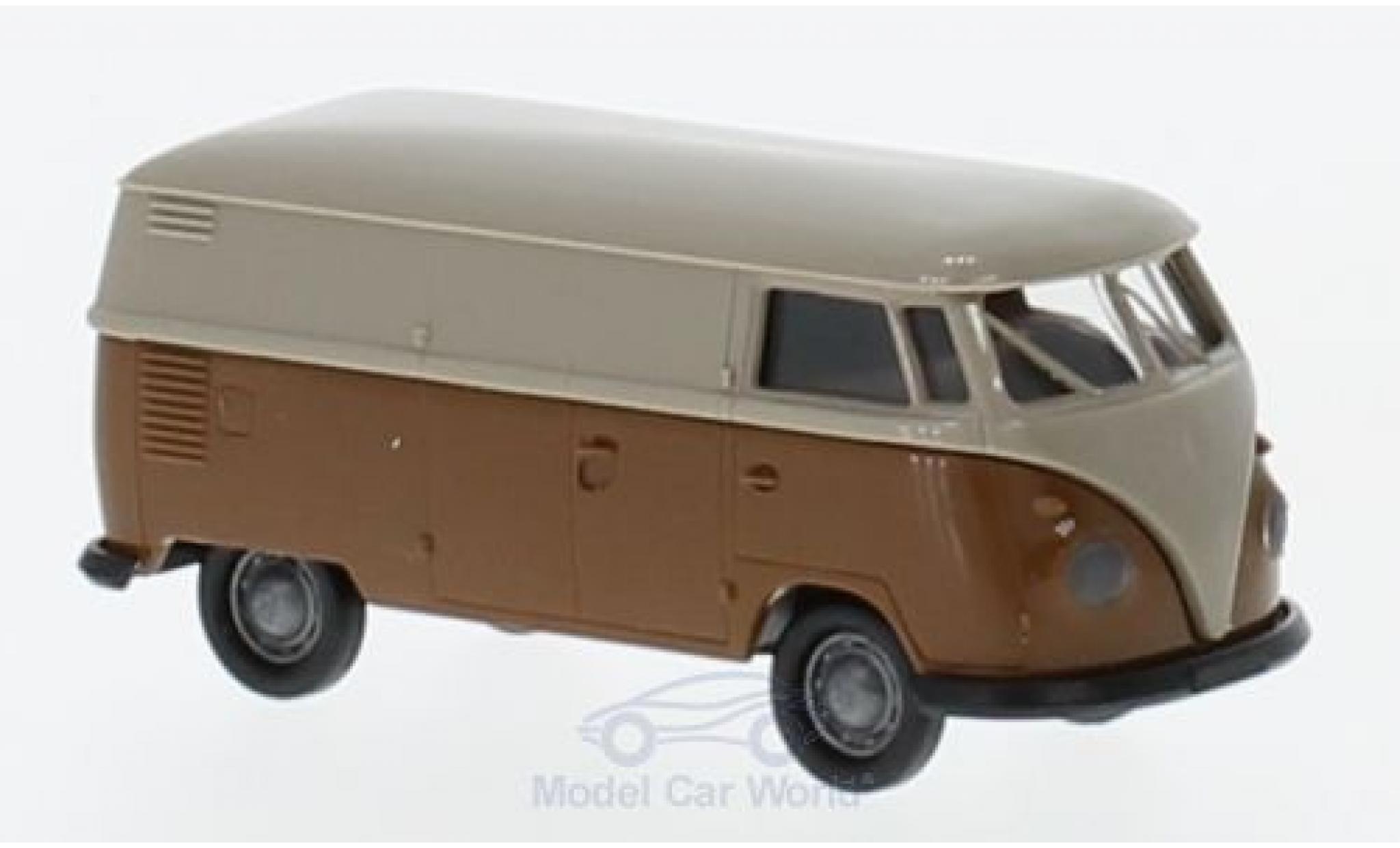 Volkswagen T1 B 1/87 Brekina b Kasten grise/marron