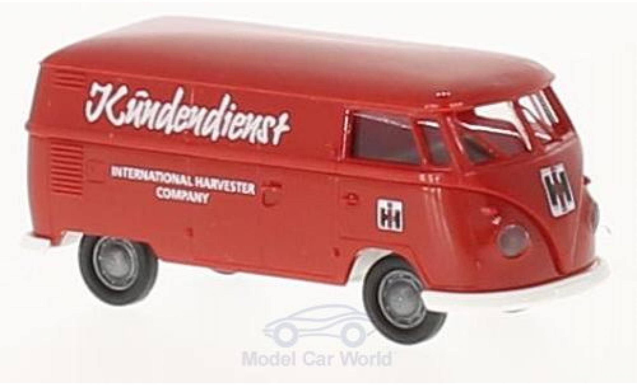 Volkswagen T1 B 1/87 Brekina b Kasten Kundendienst International Harvester