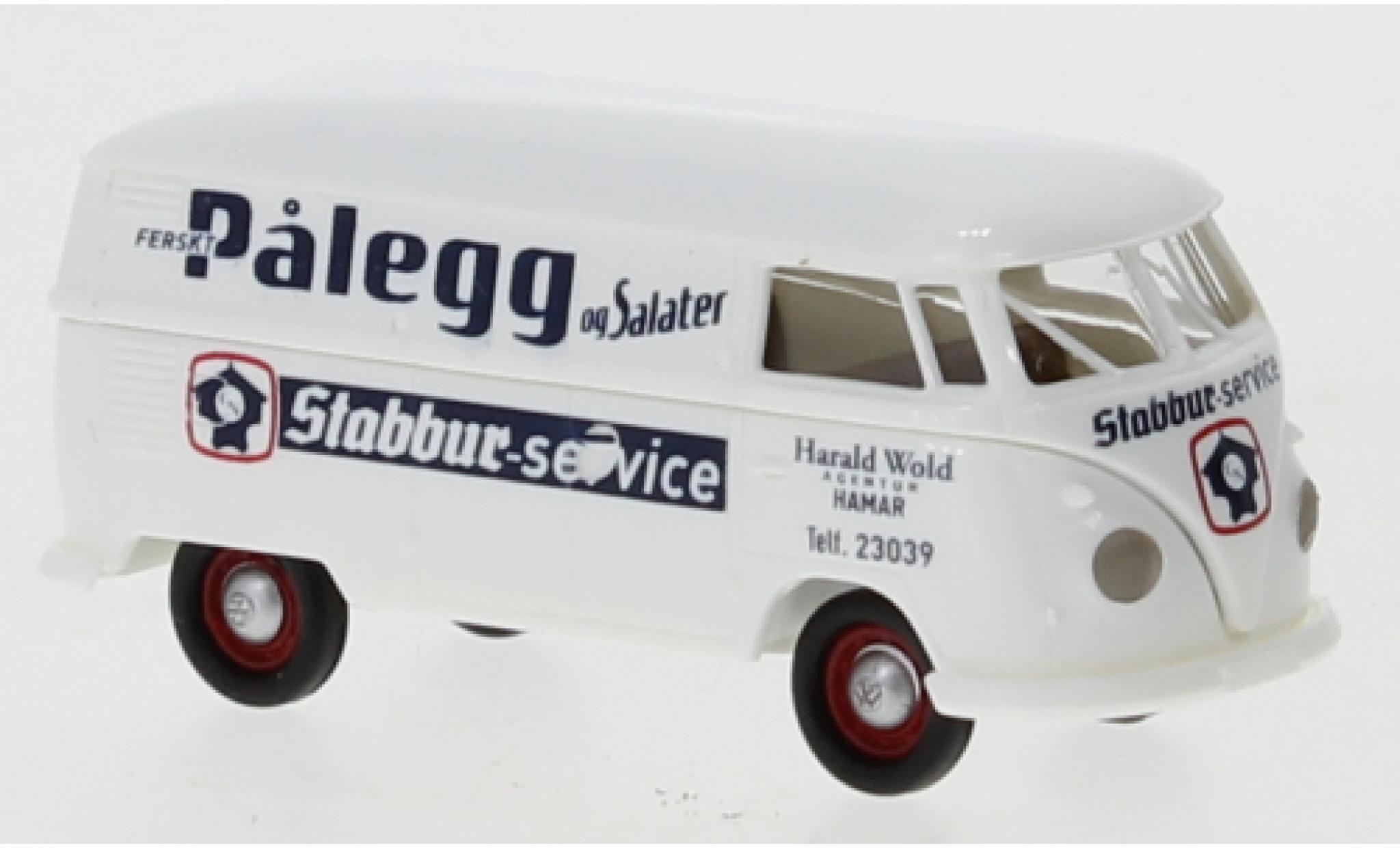 Volkswagen T1 1/87 Brekina b Kasten Palegg Salater 1960