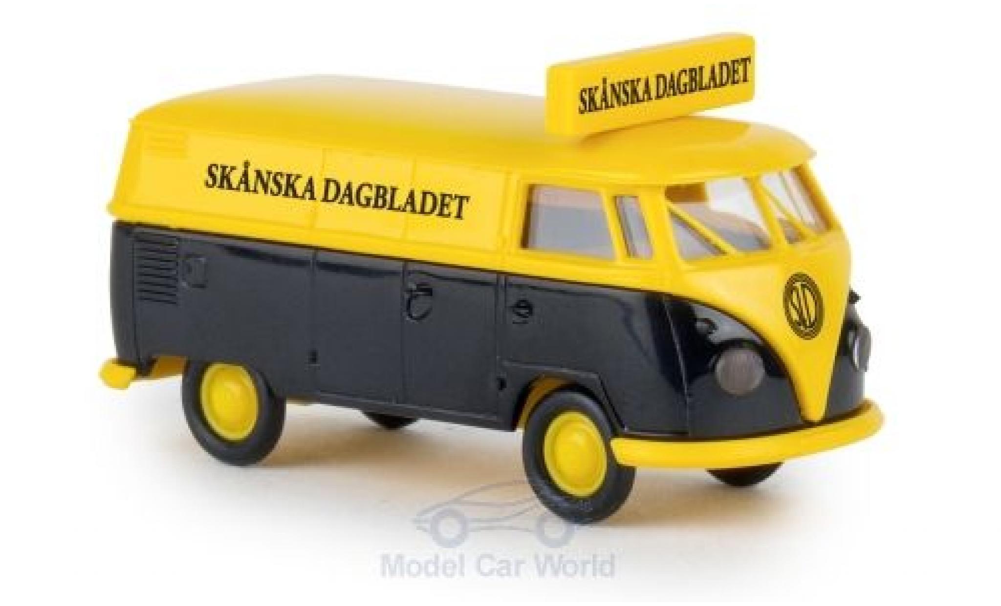 Volkswagen T1 B 1/87 Brekina b Kasten Skanska Dagbladet