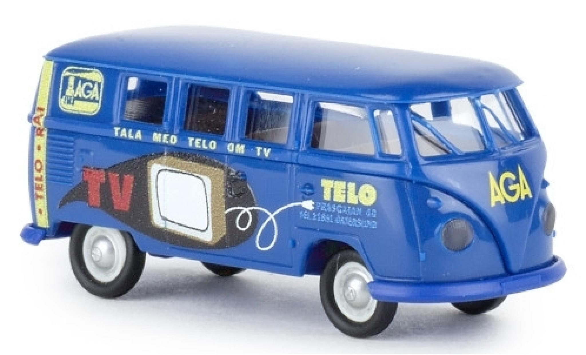 VW T1 DoKa dunkelbeige Pick Up mit Dachgepäckträger und Plane 1:24 MotorMax