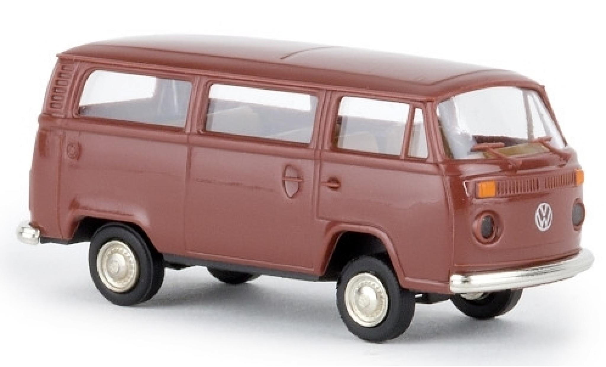 Volkswagen T2 1/87 Brekina Kombi marron 1972