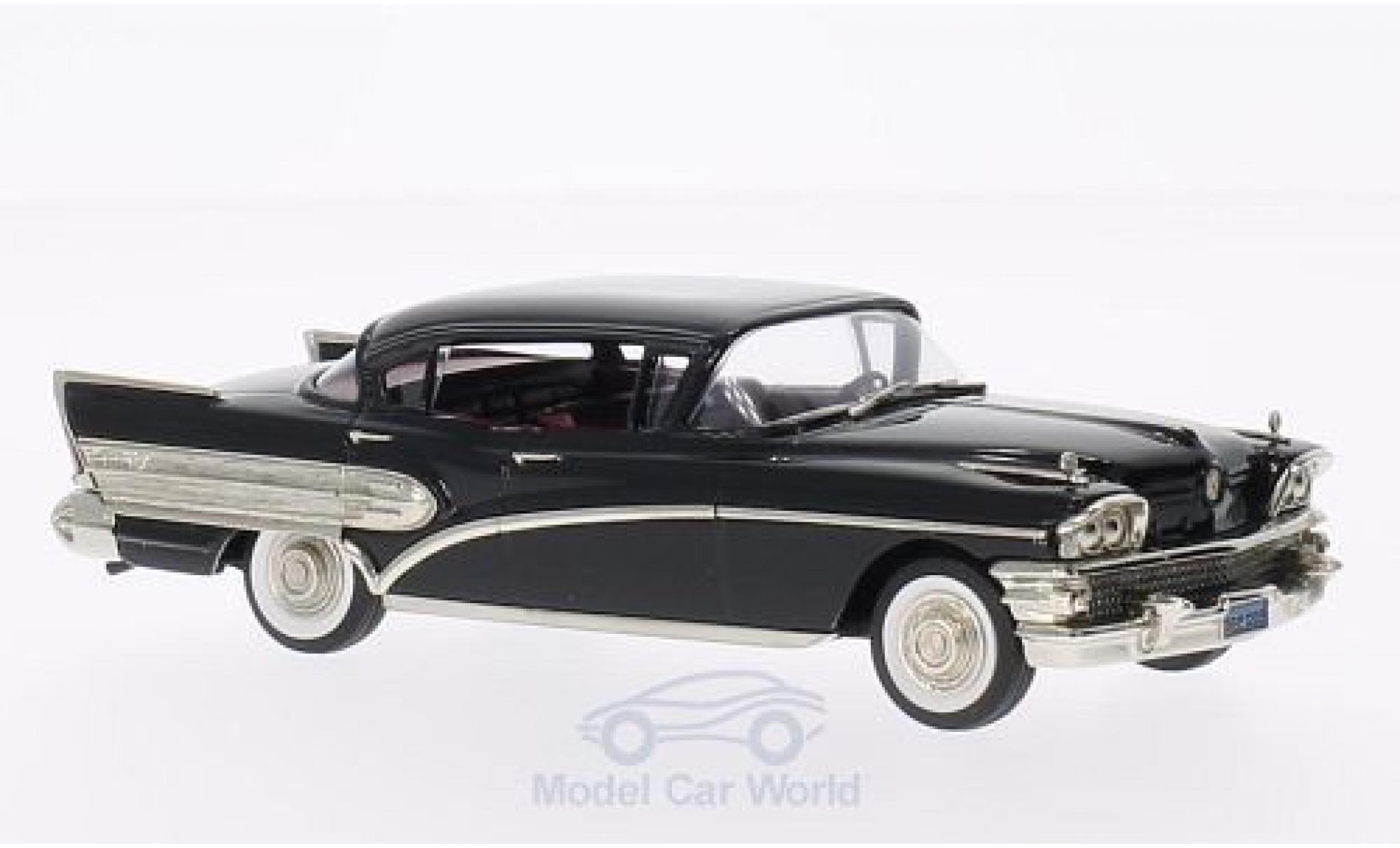 Buick Roadmaster 1/43 Brooklin 75 Hardtop noire 1958