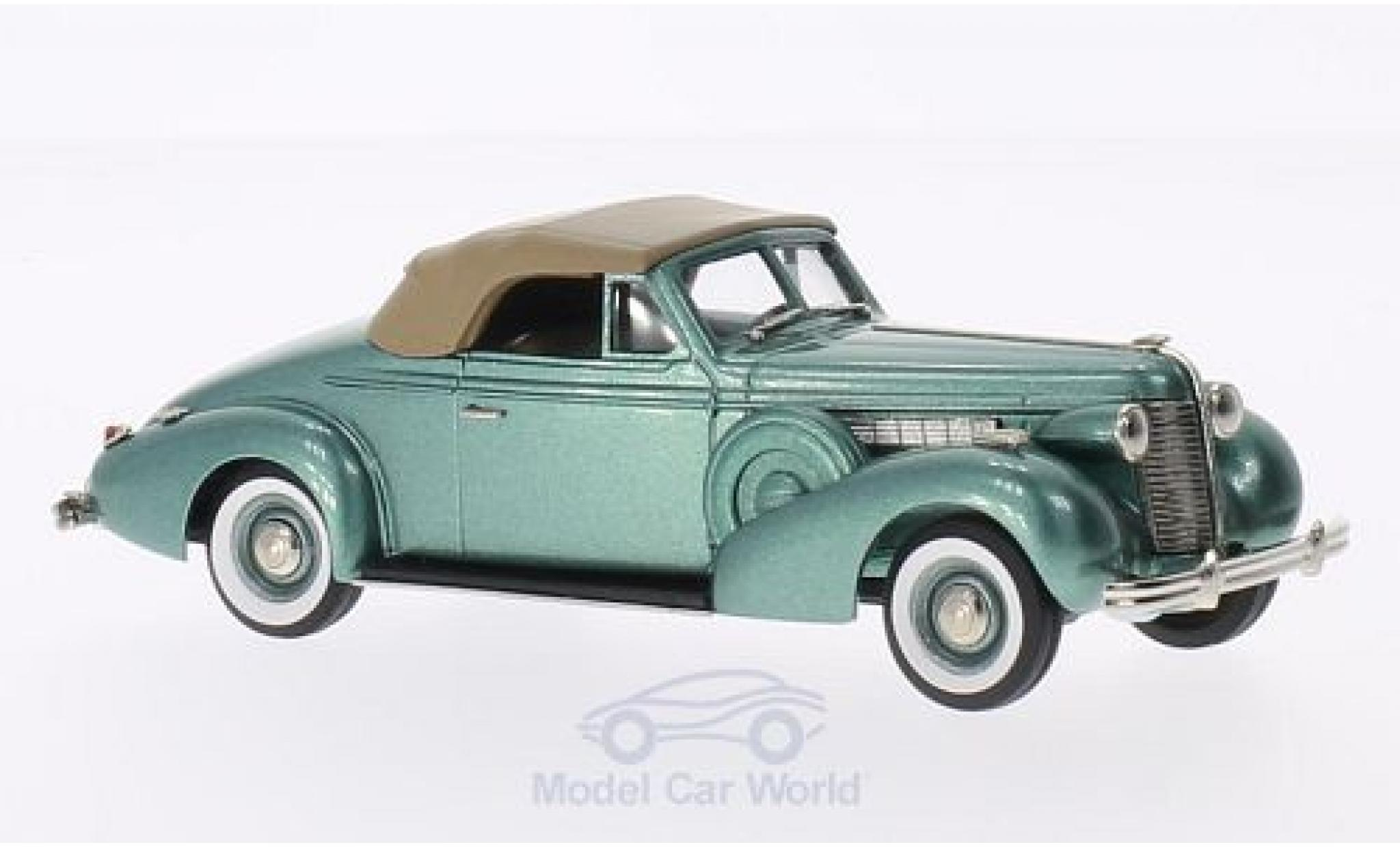 Buick Special 1/43 Brooklin Convertible Coupe M46-C metallise verte/marron 1938