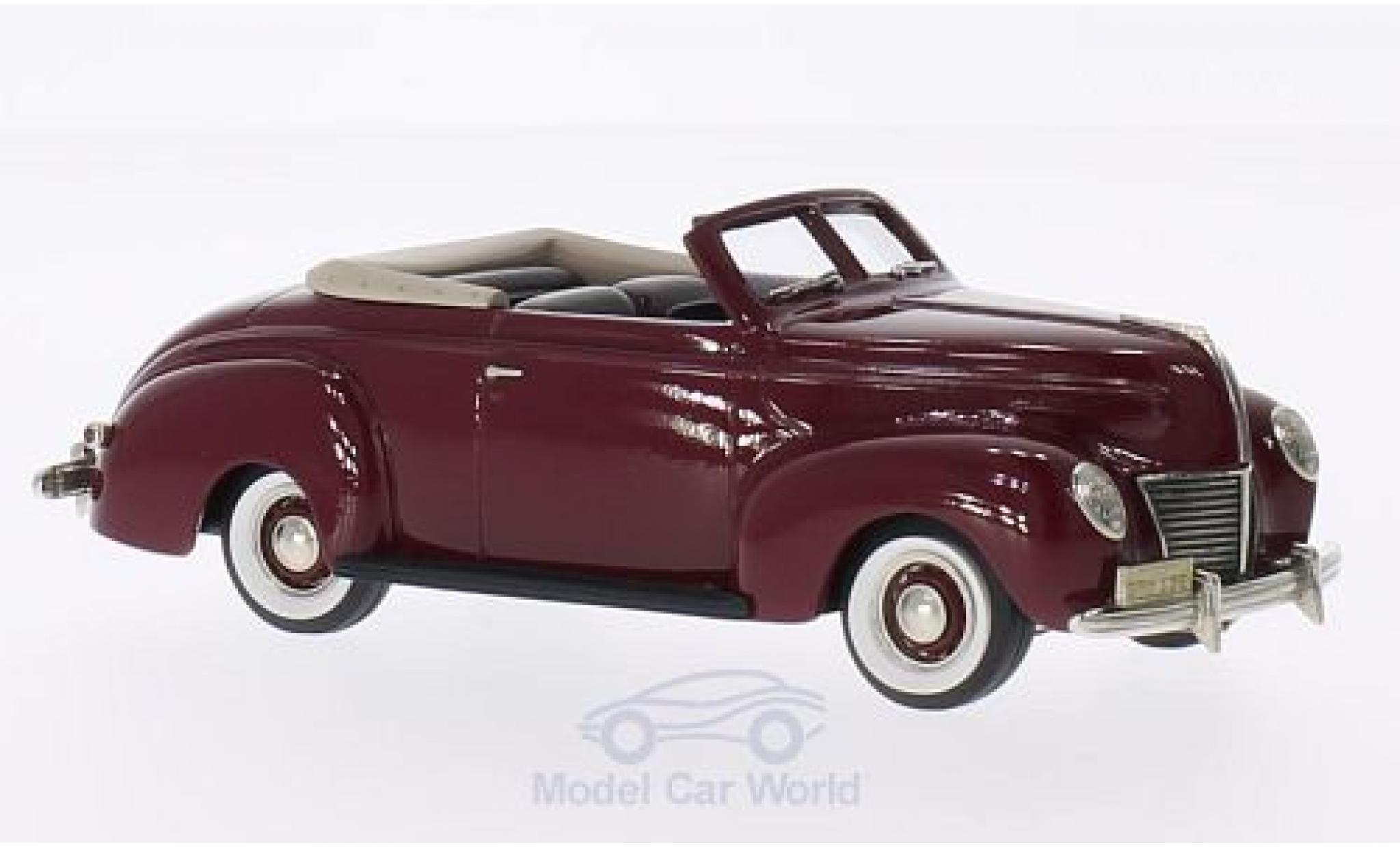 Mercury Club Coupe 1/43 Brooklin 2-door Convertible dunkelrouge 1939