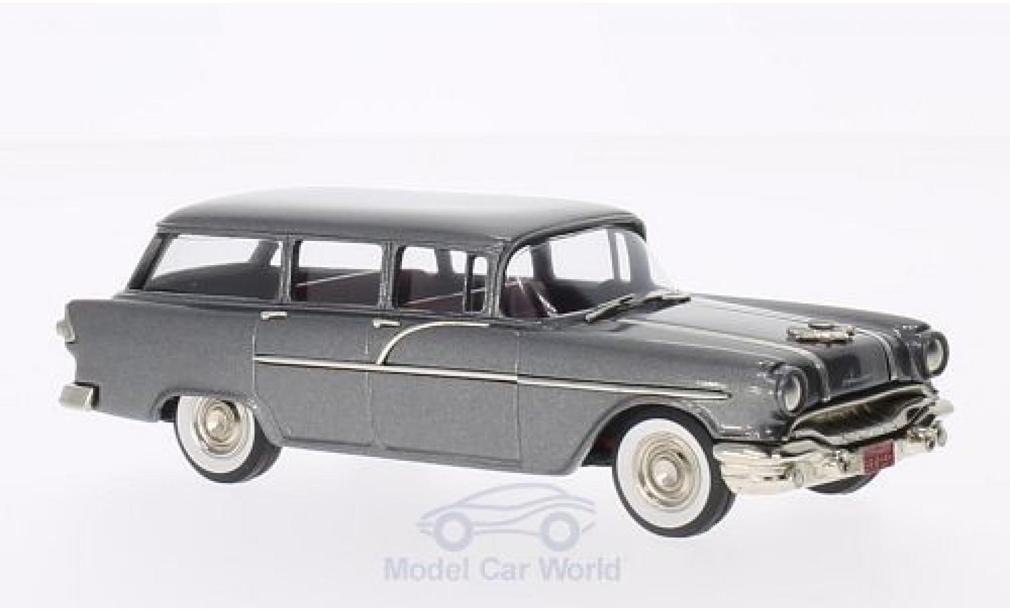 Pontiac Chieftain 1/43 Brooklin 860 Station Wagon metallise grise 1956