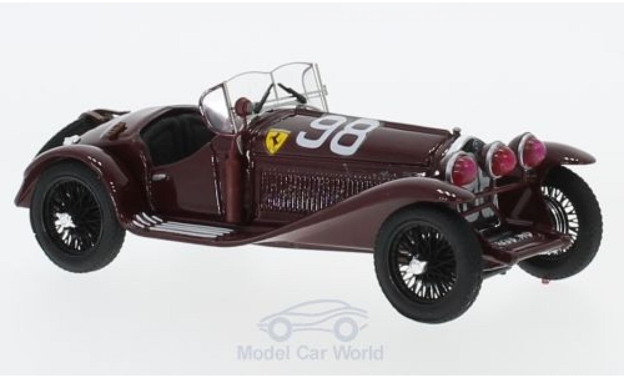 Alfa Romeo 2300 1/43 Brumm RHD No.98 Scuderia Ferrari Mille Miglia 1933 T.Nuvolari/D.Compagnoni