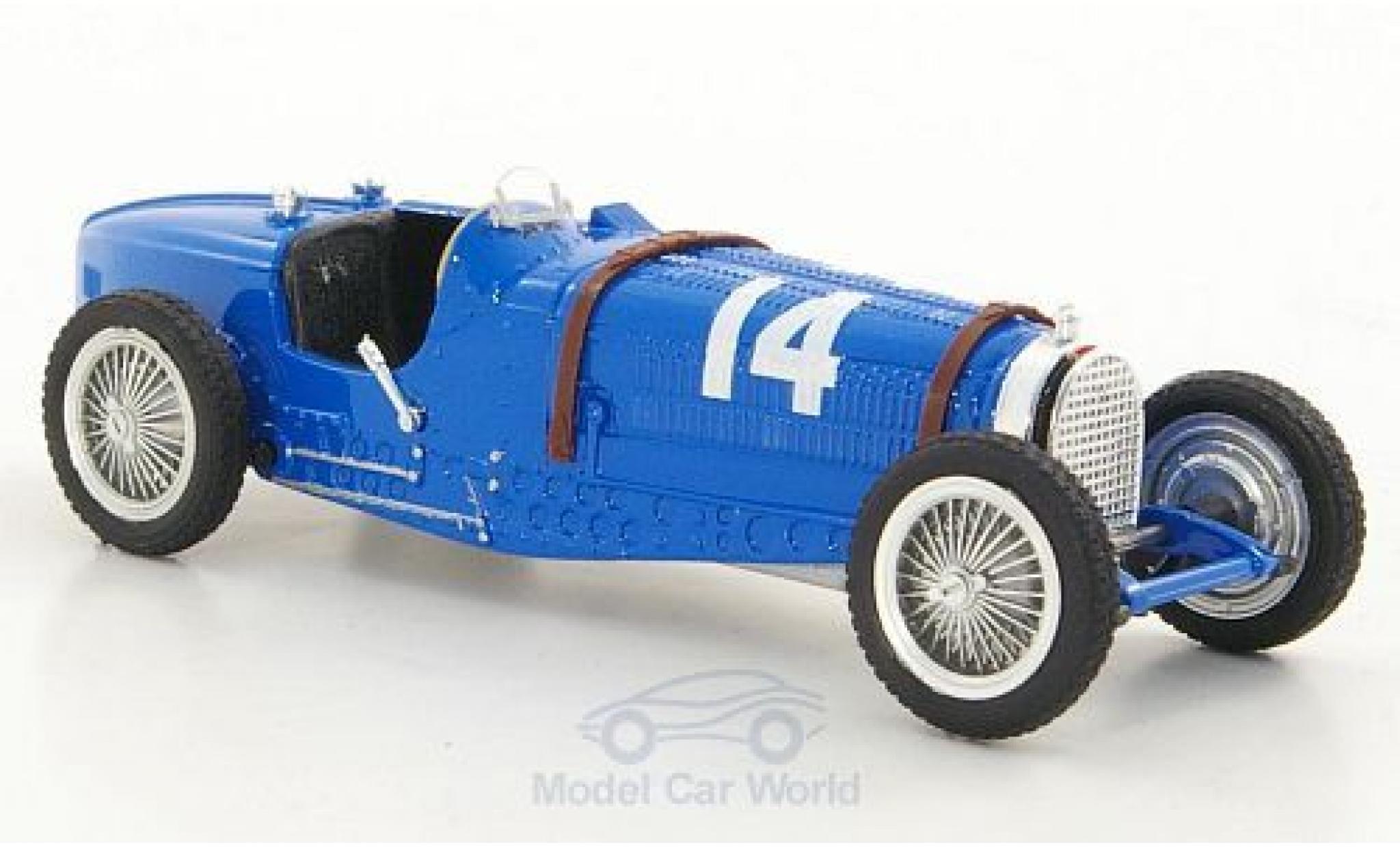 Bugatti Type 59 1/43 Brumm No.14 Formel 1 GP Frankreich 1934 T.Nuvolari