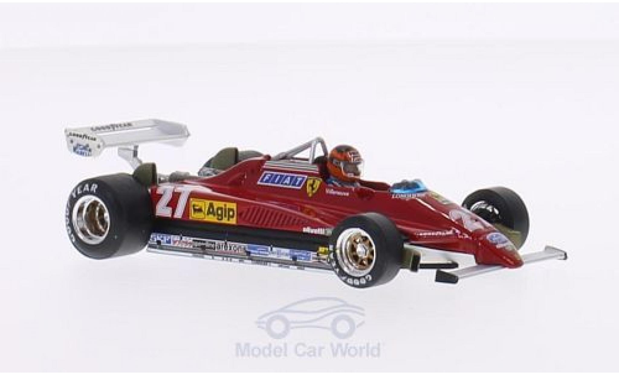 Ferrari 126 1/43 Brumm C2 Turbo No.27 Scuderia Formel 1 GP Belgien 1982 mit Fahrerfigur in Sonderverpackung G.Villeneuve