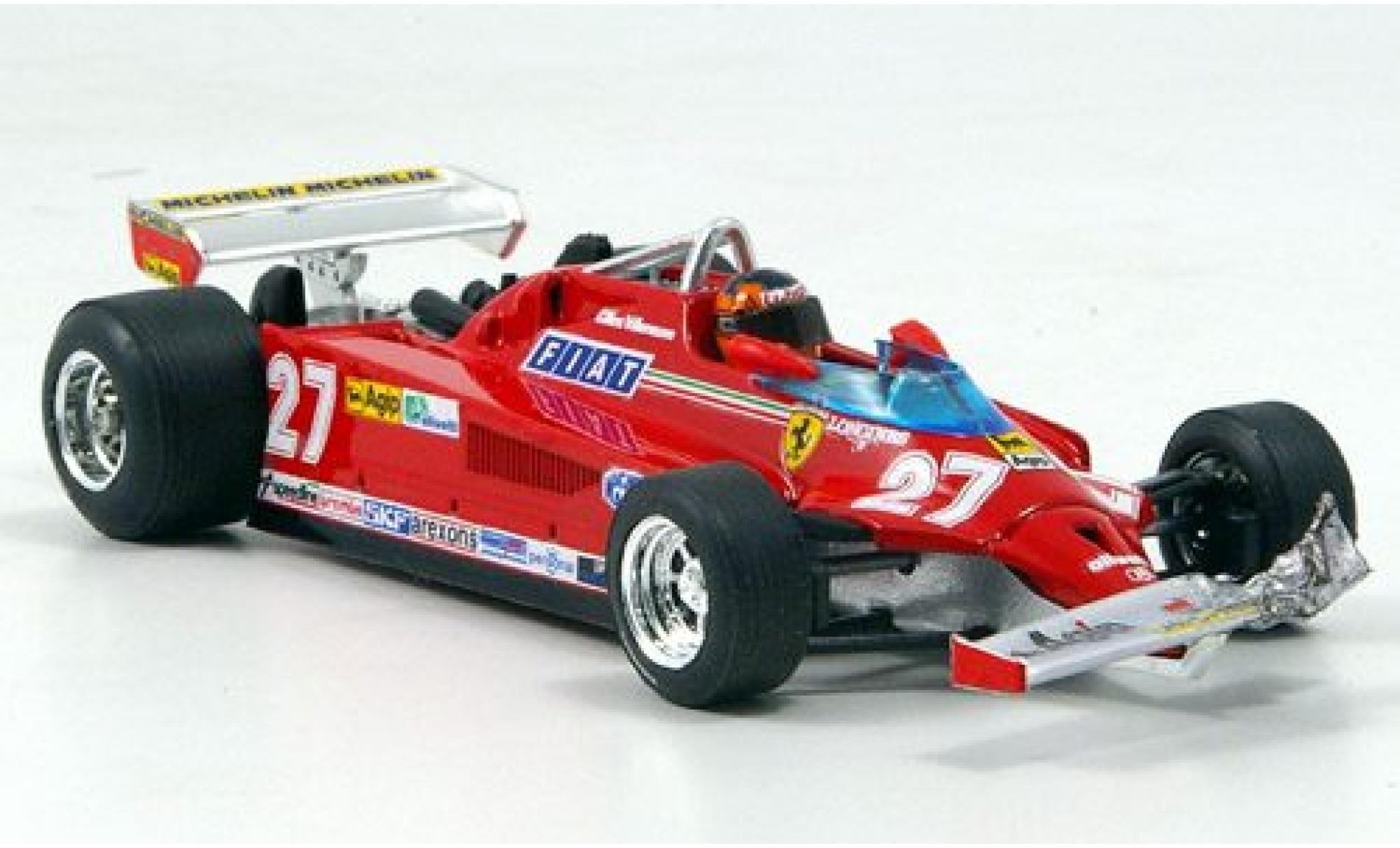 Ferrari 126 1/43 Brumm CK Turbo No.27 Scuderia Formel 1 GP Kanada 1981 avec figurine de conducteur ronde 39-54 G.Villeneuve