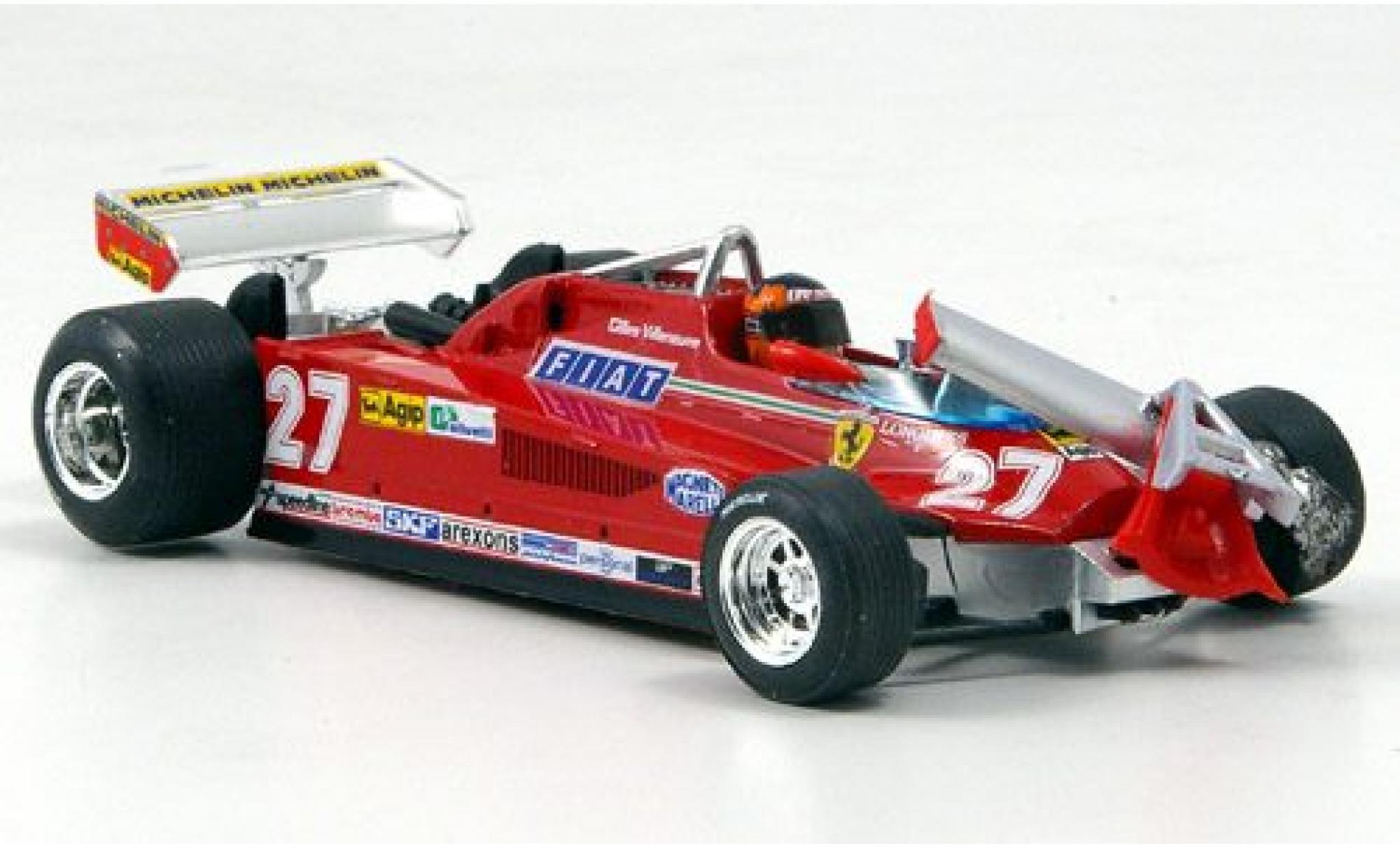 Ferrari 126 1/43 Brumm CK Turbo No.27 Scuderia Formel 1 GP Kanada 1981 ronde 55-56 G.Villeneuve