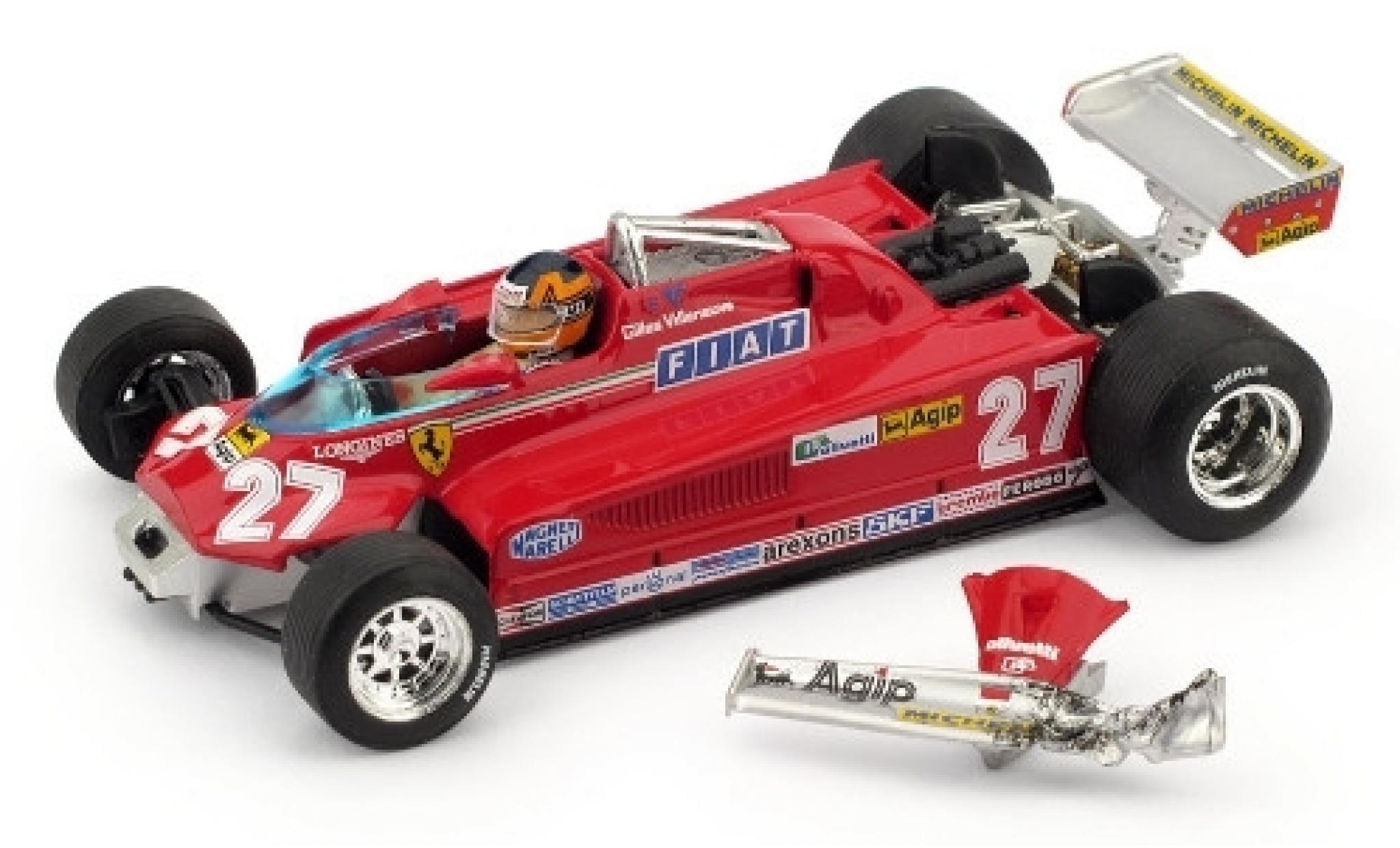 Ferrari 126 1/43 Brumm CK Turbo No.27 Scuderia Formel 1 GP Kanada 1981 ronde 57-63 G.Villeneuve