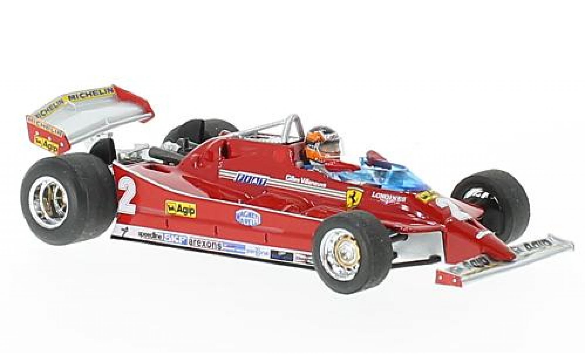 Ferrari 126 1/43 Brumm C turbo No.2 Scuderia Formel 1 GP Italien 1980 avec figurine de conducteur G.Villeneuve