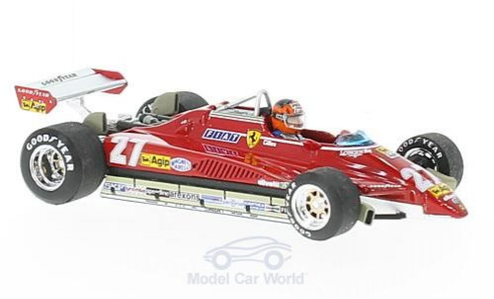Ferrari 126 1982 1/43 Brumm C2 turbo No.27 Formel 1 GP Brasilien mit Fahrerfigur G.Villeneuve