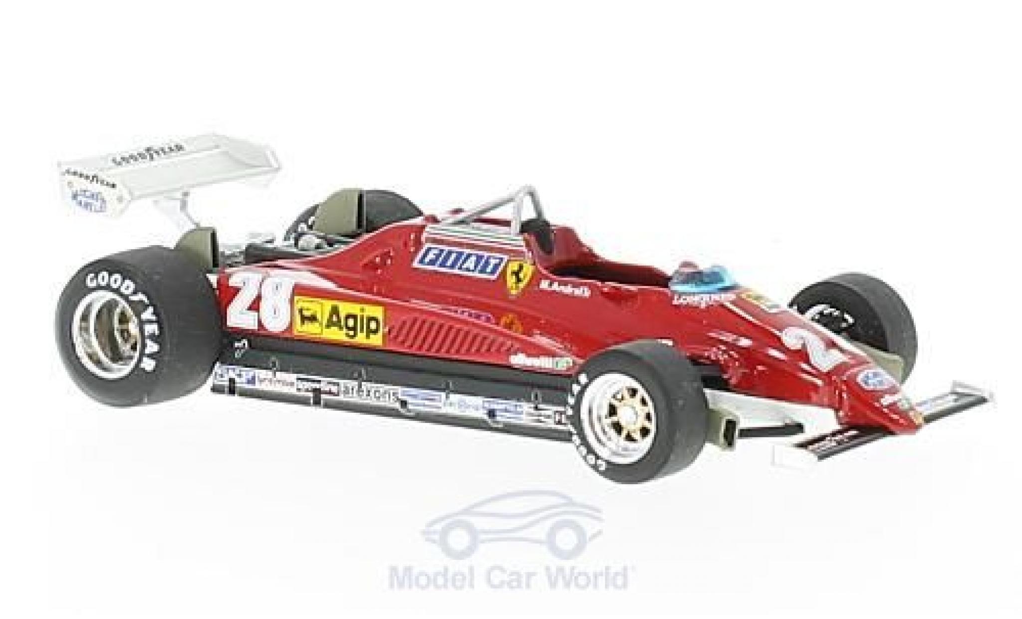 Ferrari 126 1982 1/43 Brumm C2 turbo No.28 Formel 1 GP Italien 1982 M.Andretti
