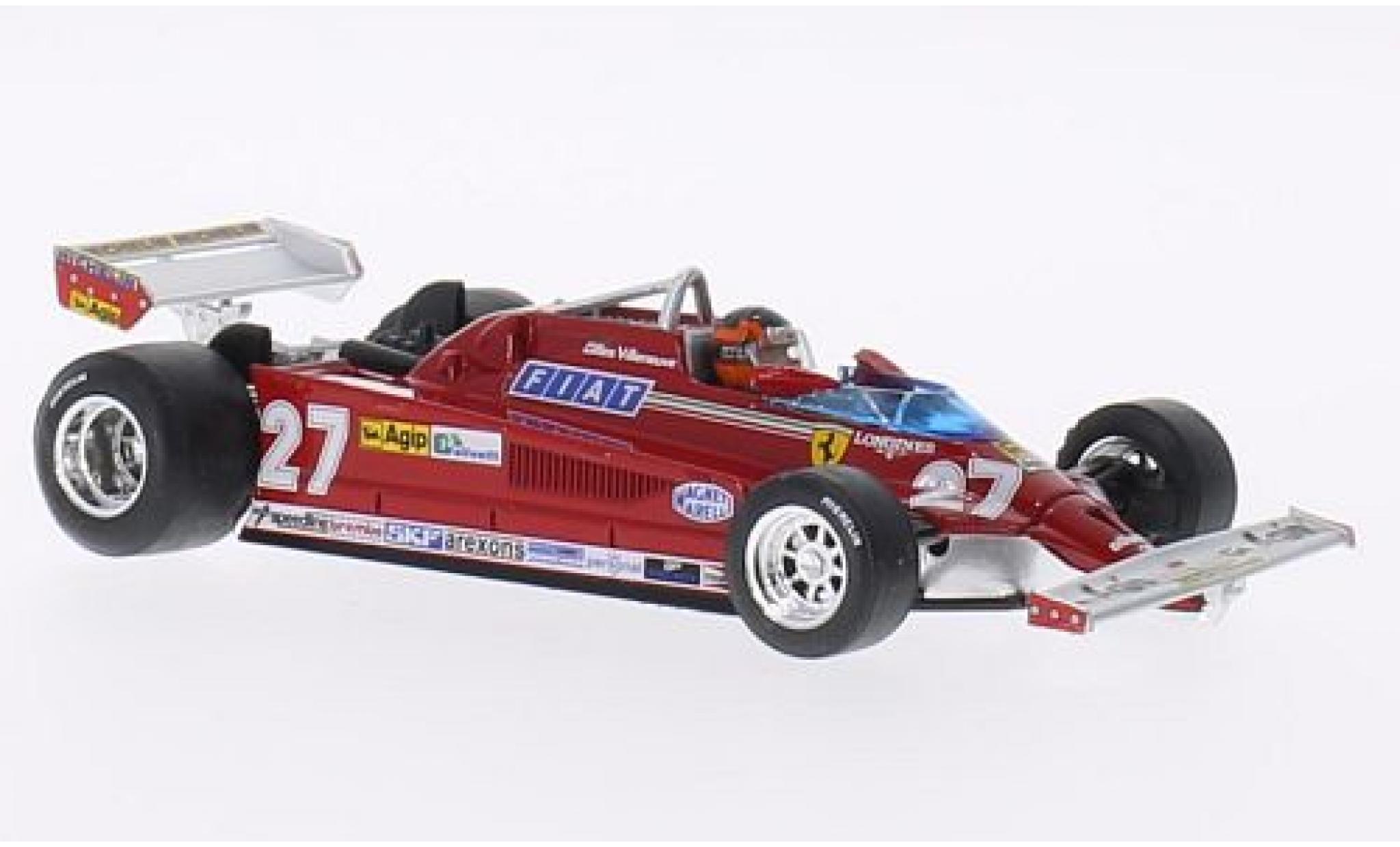 Ferrari 126 1/43 Brumm CK Turbo No.27 Scuderia Formel 1 GP Italien 1981 avec figurine de conducteur G.Villeneuve