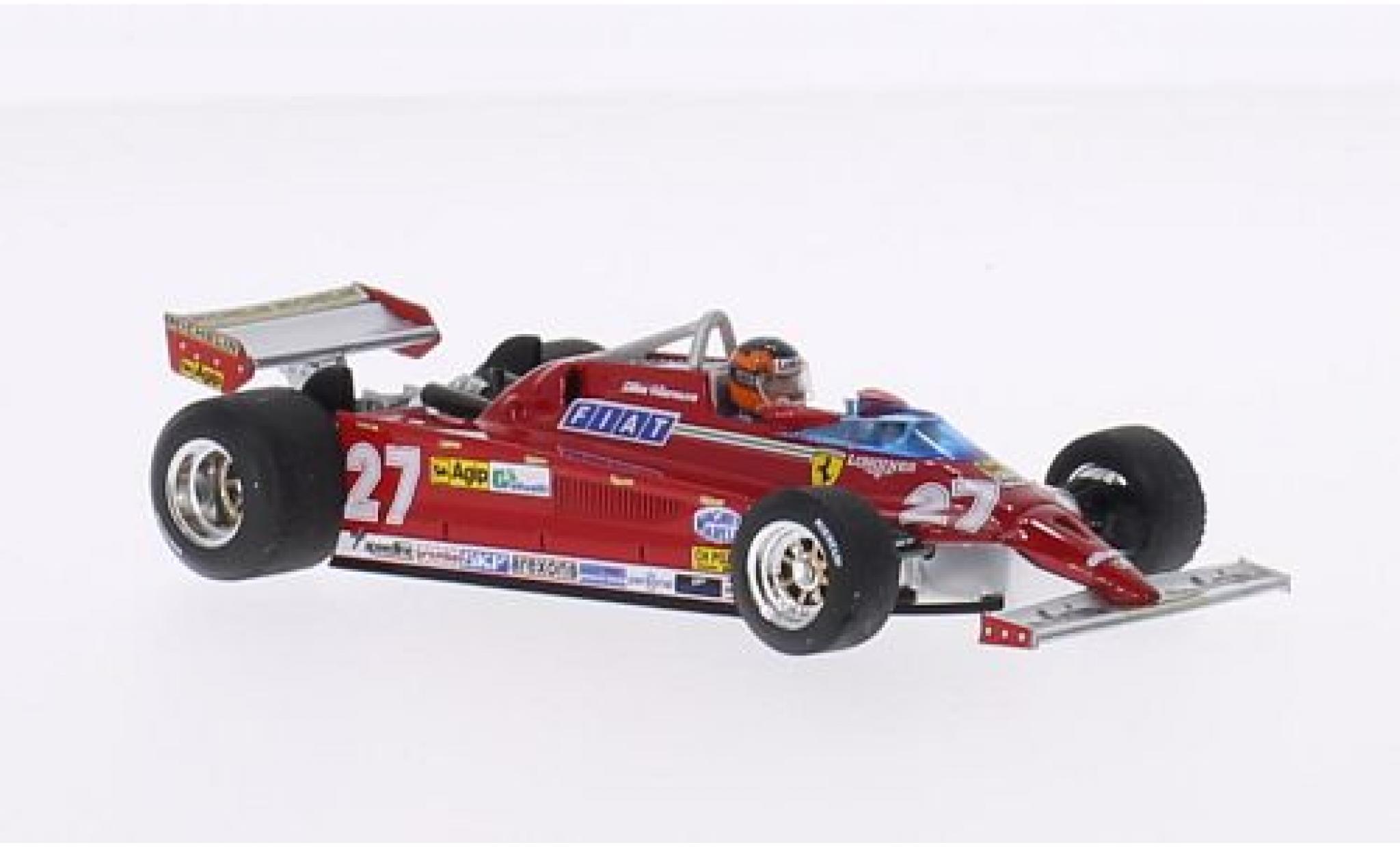 Ferrari 126 1/43 Brumm CK Turbo No.27 Suderia Formel 1 GP Monte Carlo 1981 avec figurine de conducteur G.Villeneuve