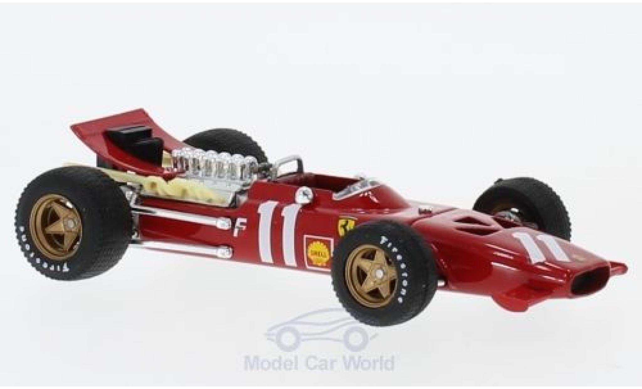 Ferrari 312 P 1/43 Brumm F1 No.11 Formel 1 GP Monte Carlo 1969 C.Amon