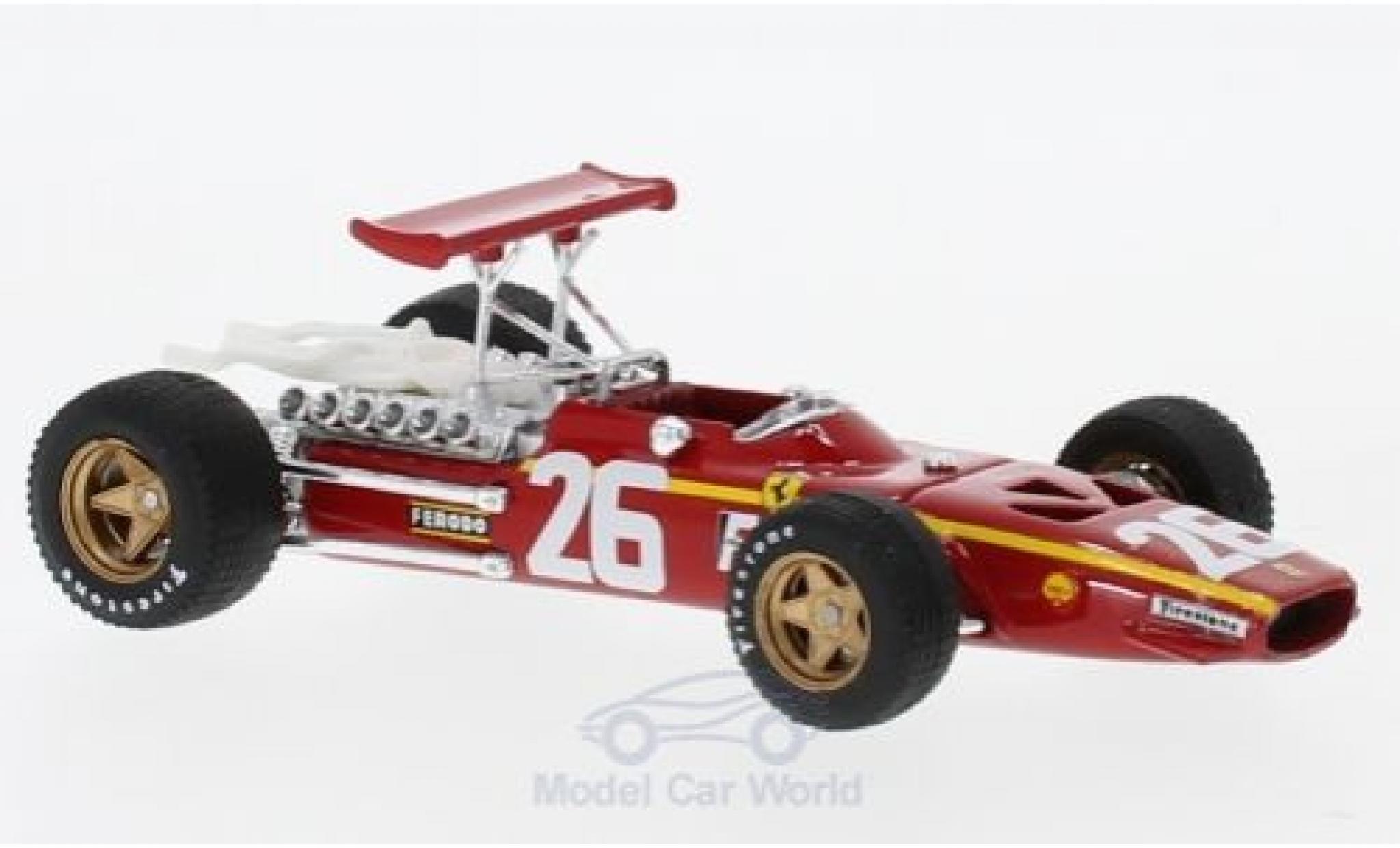 Ferrari 312 P 1/43 Brumm F1 No.26 Formel 1 G Frankreich 1968 J.Ickx