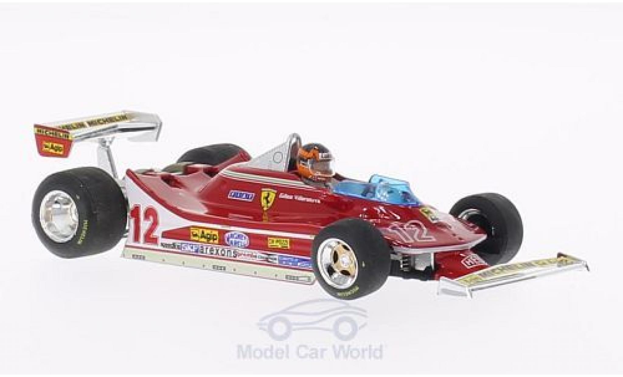 Ferrari 312 T4 1/43 Brumm T4 No.12 GP Frankreich 1979 mit Fahrerfigur G.Villeneuve
