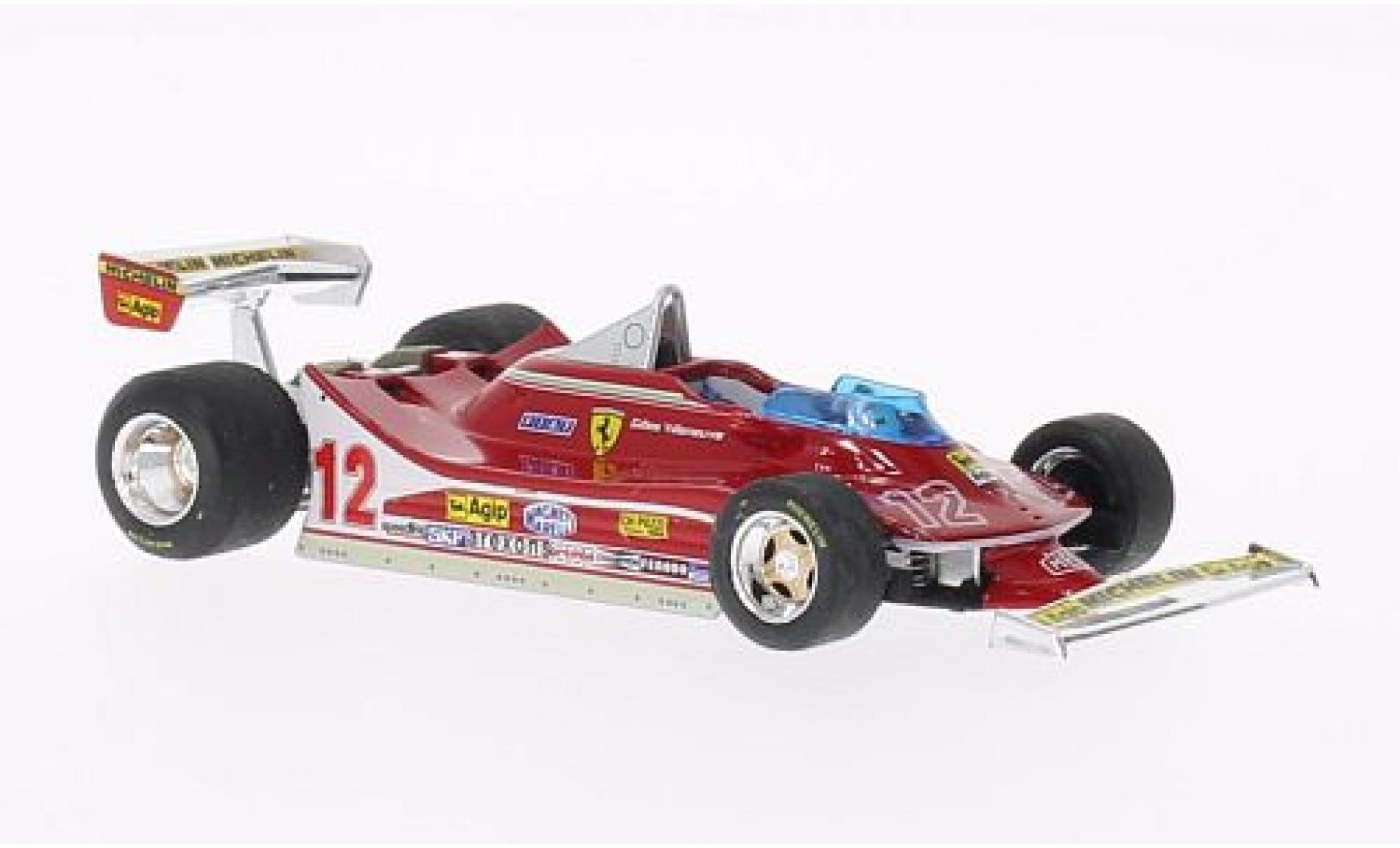 Ferrari 312 1/43 Brumm T4 No.12 Scuderia Formel 1 GP Frankreich 1979 lenkbare Vorderräder G.Villeneuve