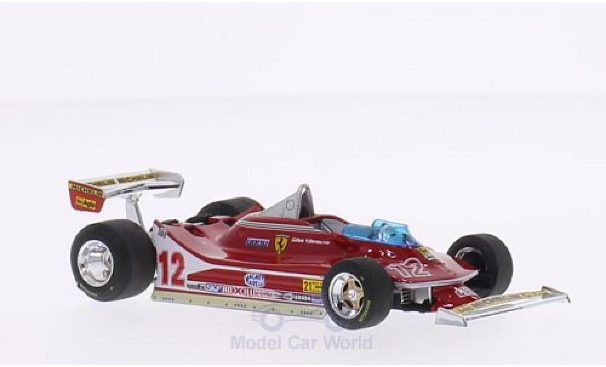Ferrari 312 T4 1/43 Brumm T4 No.12 Scuderia Formel 1 GP USA West 1979 G.Villeneuve