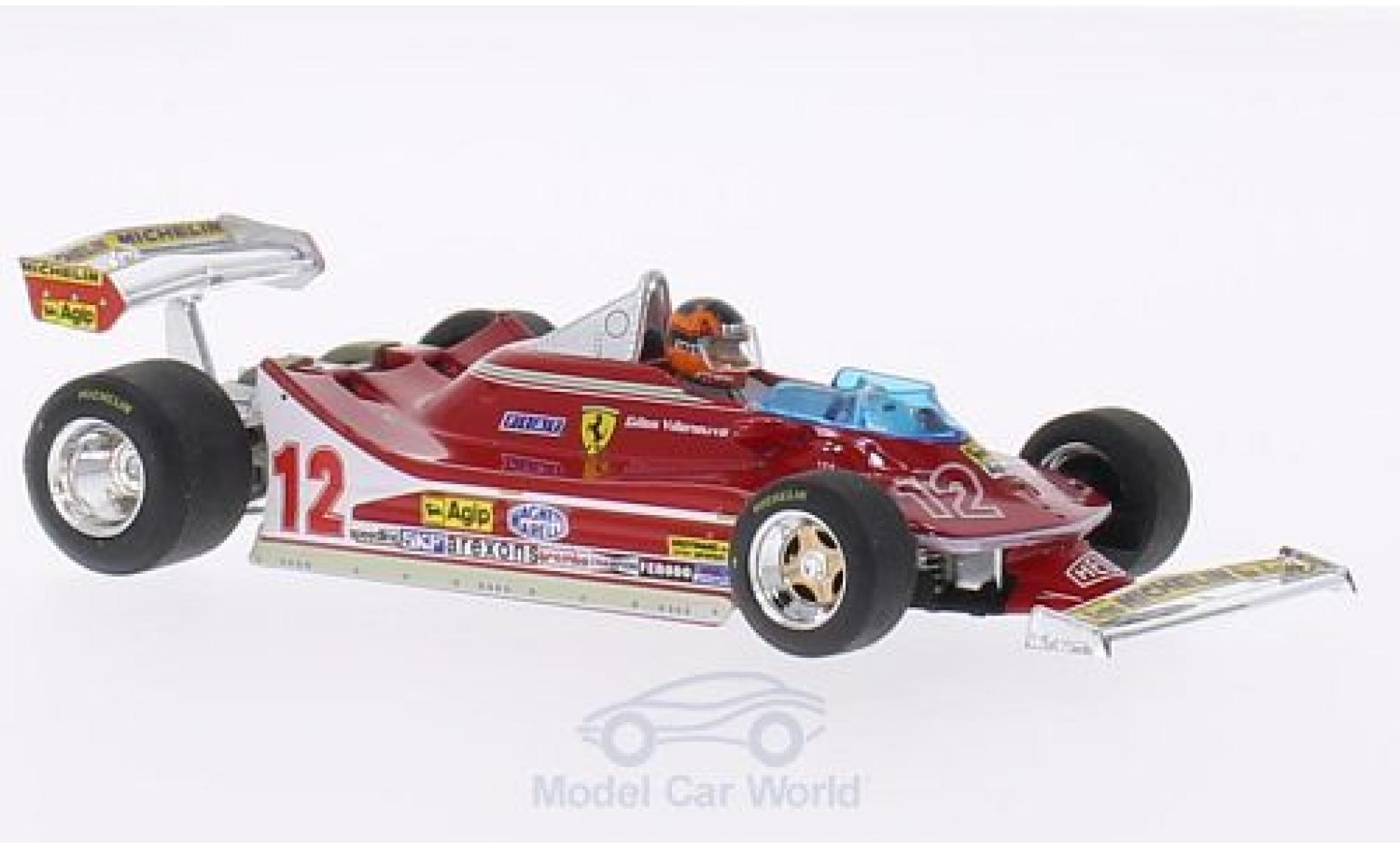 Ferrari 312 T4 1/43 Brumm No.12 Scuderia GP Niederlande 1979 mit Figur G.Villeneuve