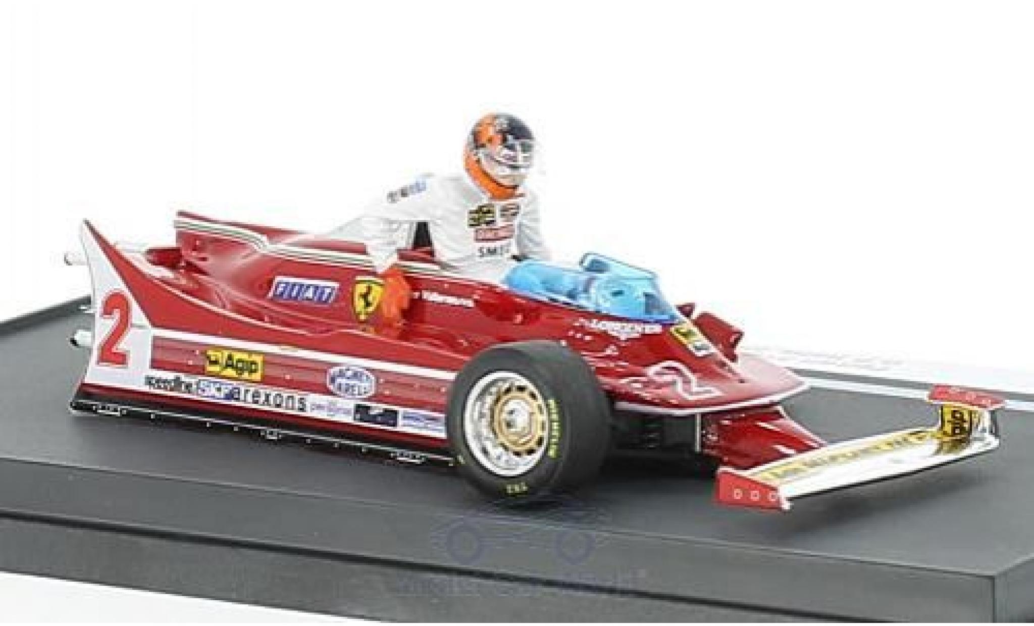 Ferrari 312 P 1/43 Brumm T5 No.2 Formel 1 GP Italien 1980 mit Fahrerfigur G.Villeneuve
