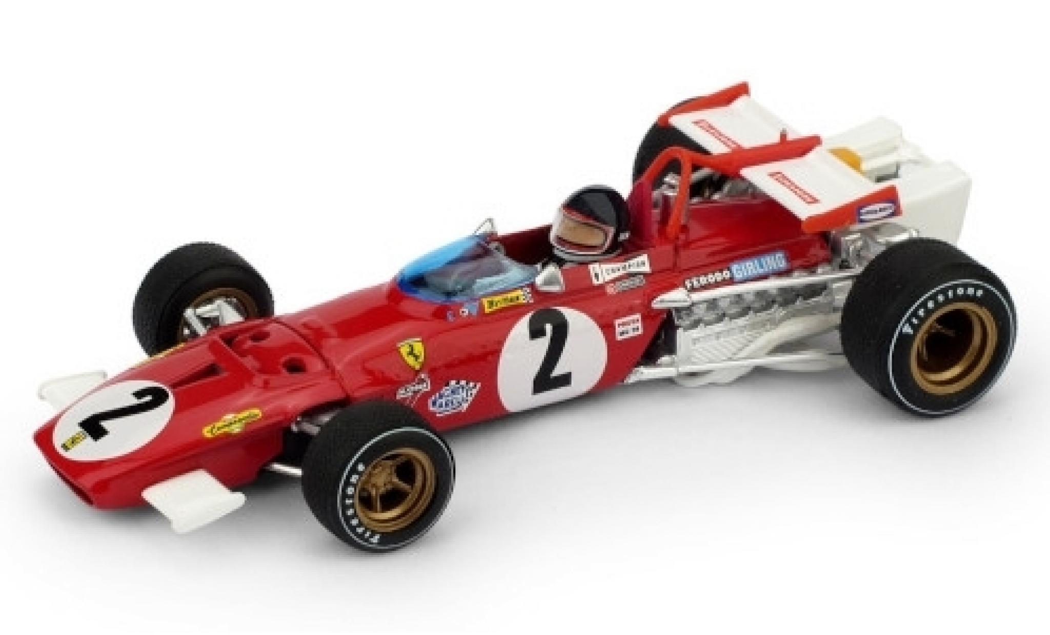 Ferrari 312 1/43 Brumm B No.2 Scuderia Formel 1 GP Italien 1970 y compris les figurine de conducteur J.Ickx
