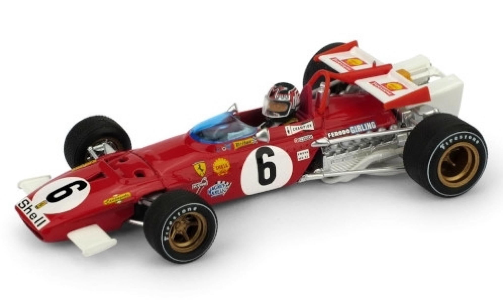 Ferrari 312 1/43 Brumm B No.6 Scuderia Formel 1 GP Italien 1970 avec figurine de conducteur I.Giunti