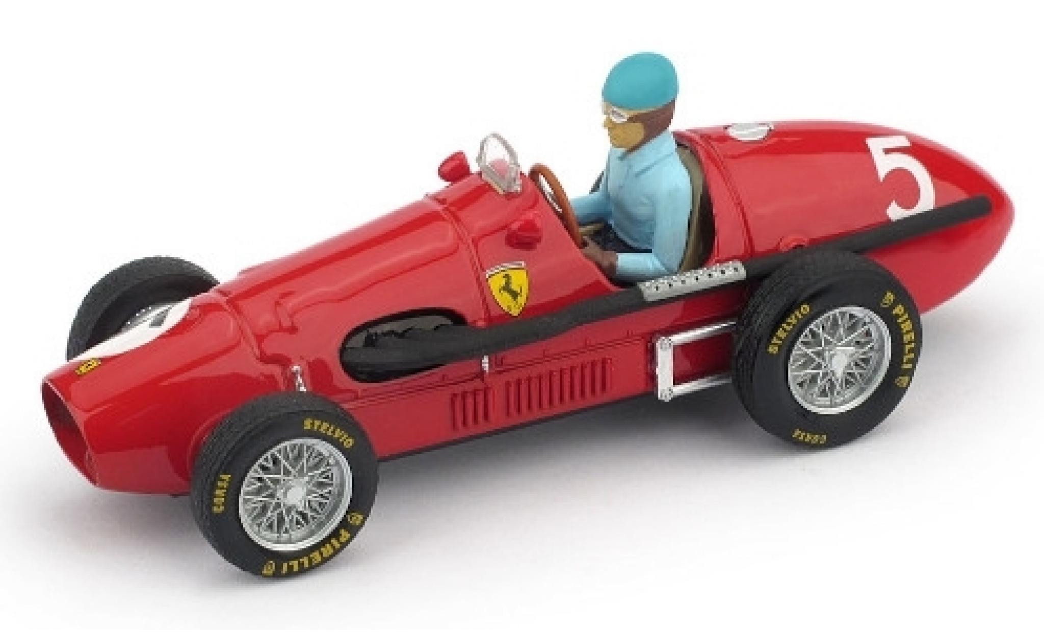 Ferrari 500 1/43 Brumm F2 No.5 Scuderia GP Großbritannien 1953 avec figurine de conducteur A.Ascari