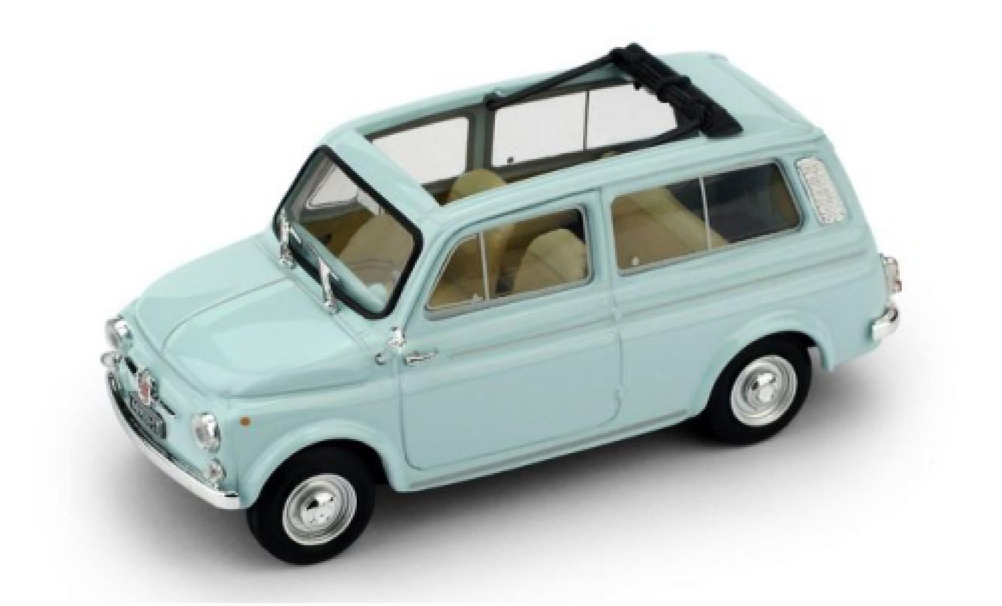 Fiat 500 1/43 Brumm Giardiniera blue 1960