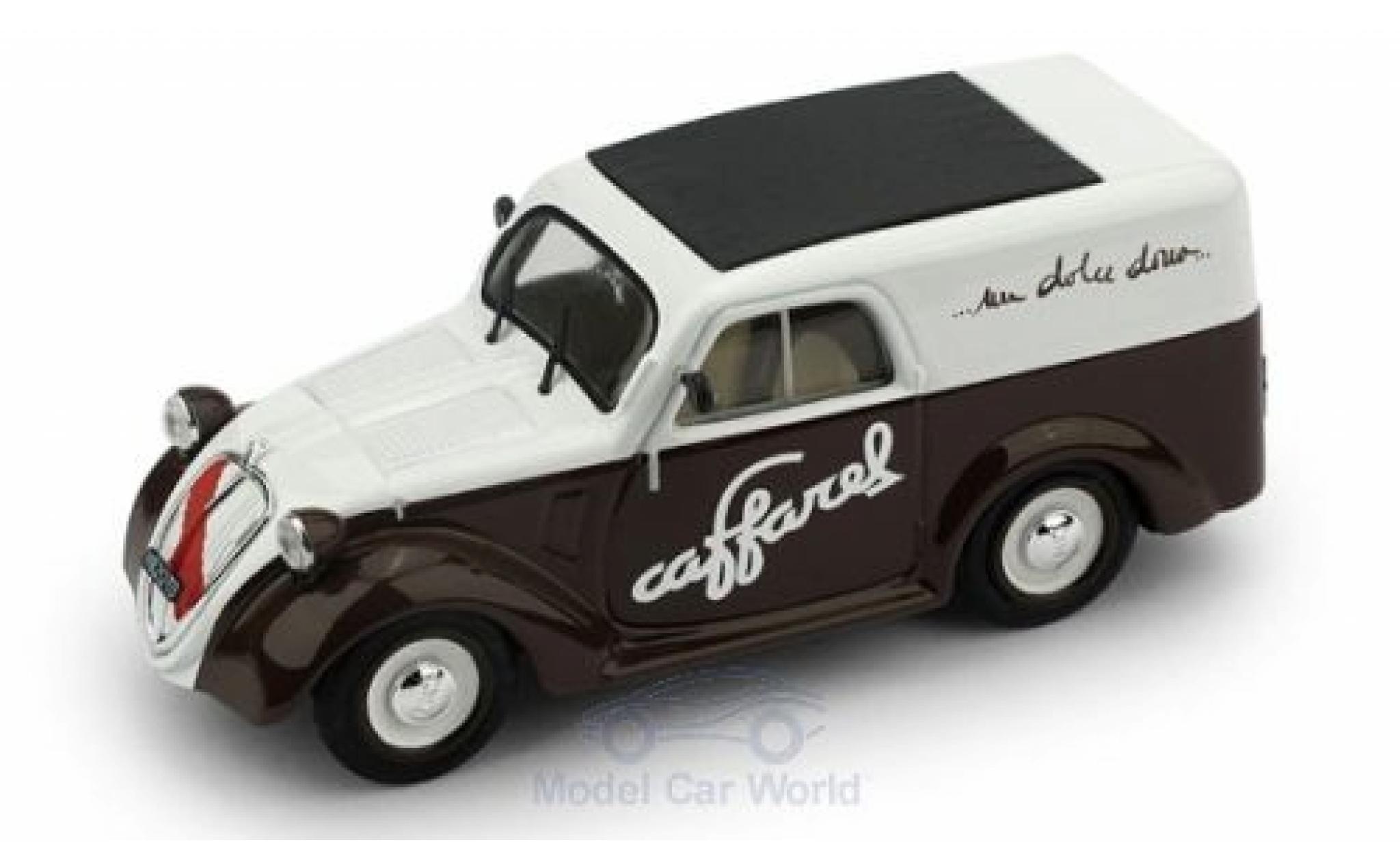 Fiat 500 1/43 Brumm B Furgone Caffarel Chocolate 1950