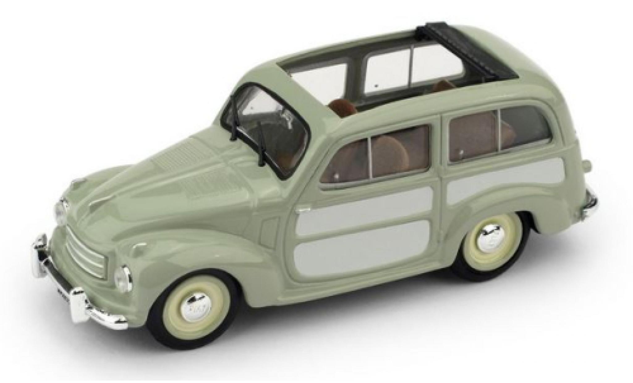 Fiat 500 1/43 Brumm C Belvedere green/grey 1951 toit rabattable ouvert