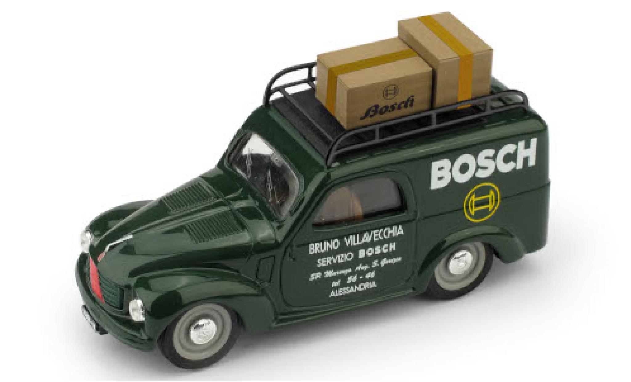 Fiat 500 1/43 Brumm C Furgone Bosch 1950 avec Rack de toit et charge