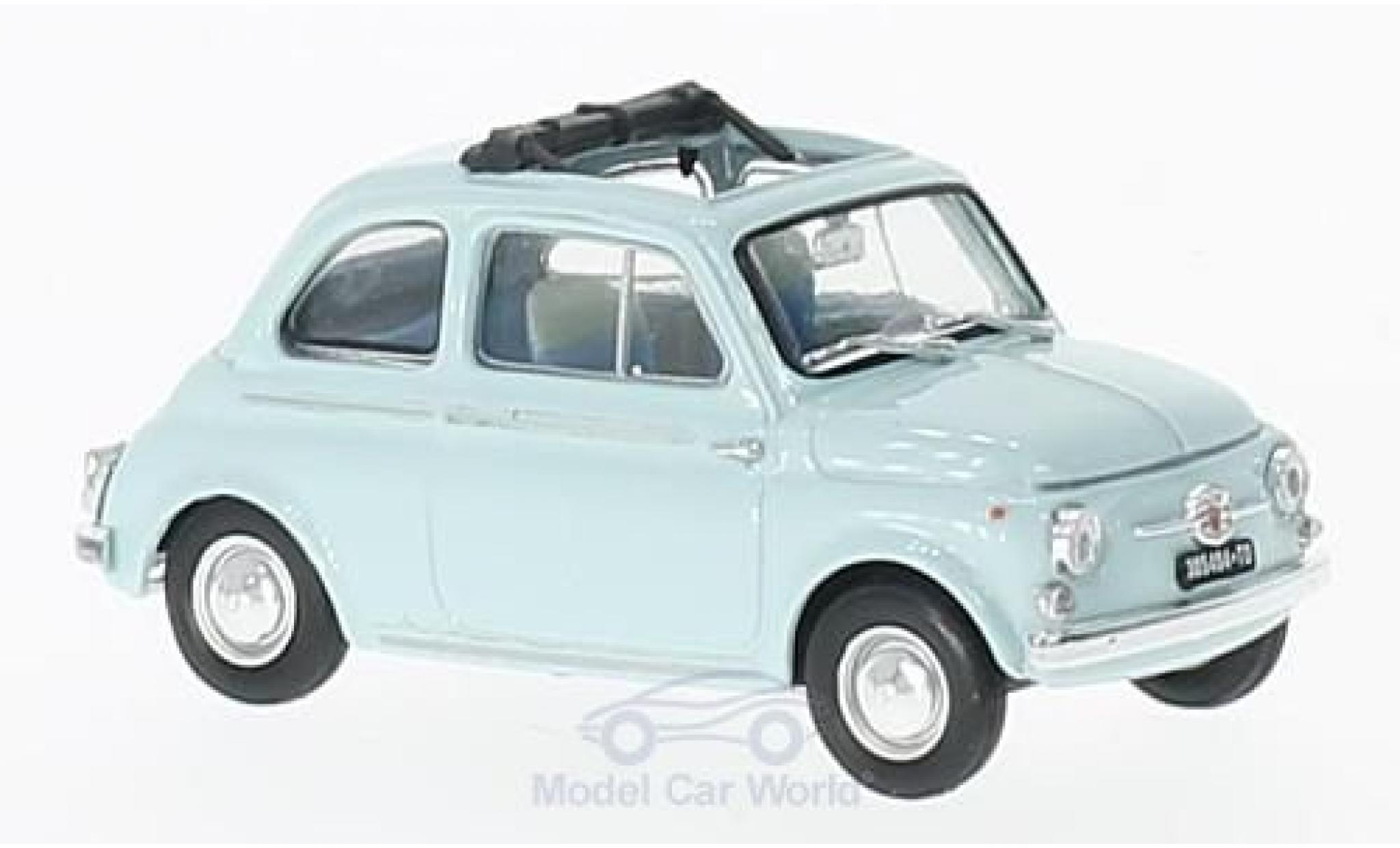 Fiat 500 1/43 Brumm D blue 1960