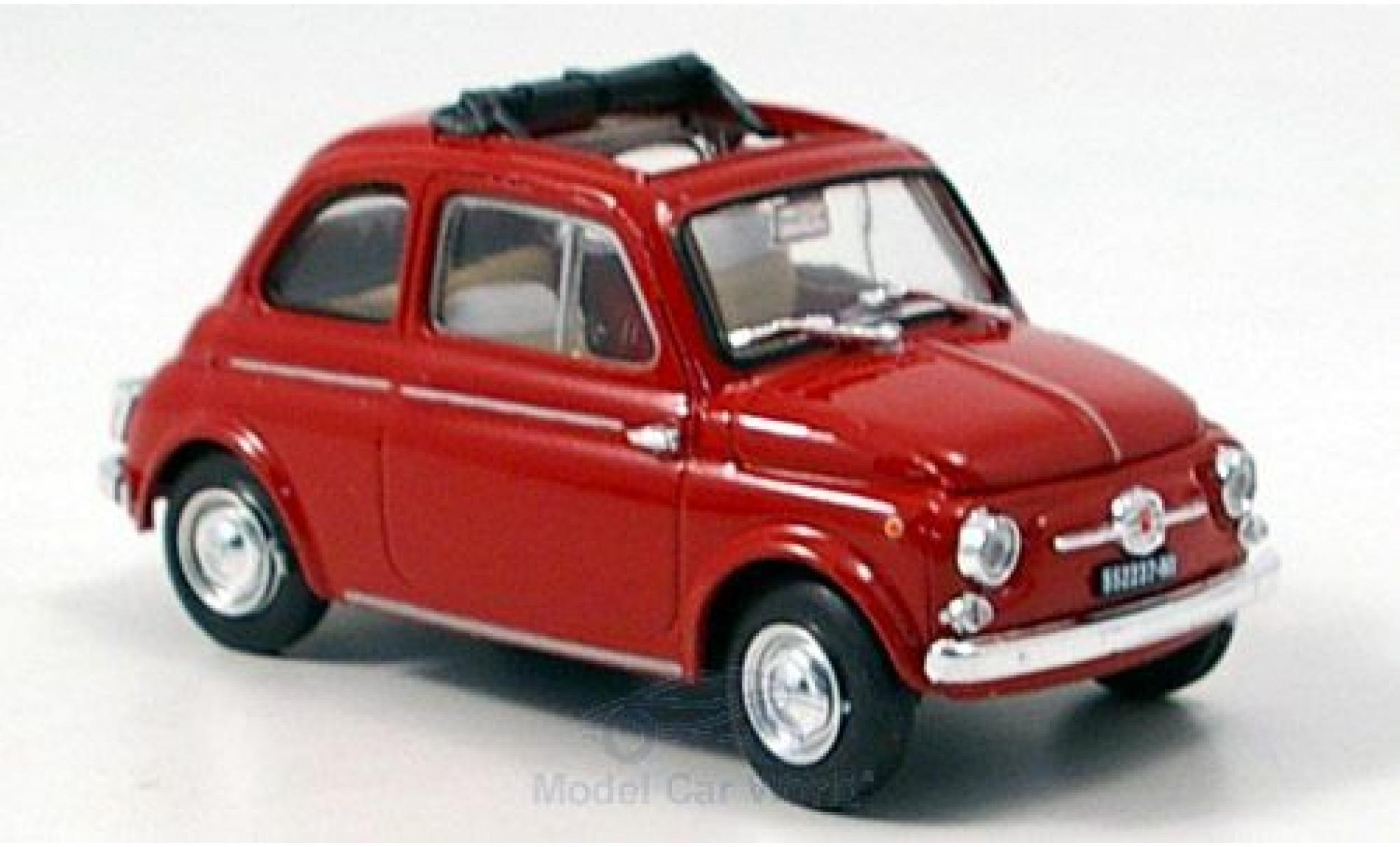 Fiat 500 1/43 Brumm D rouge 1960