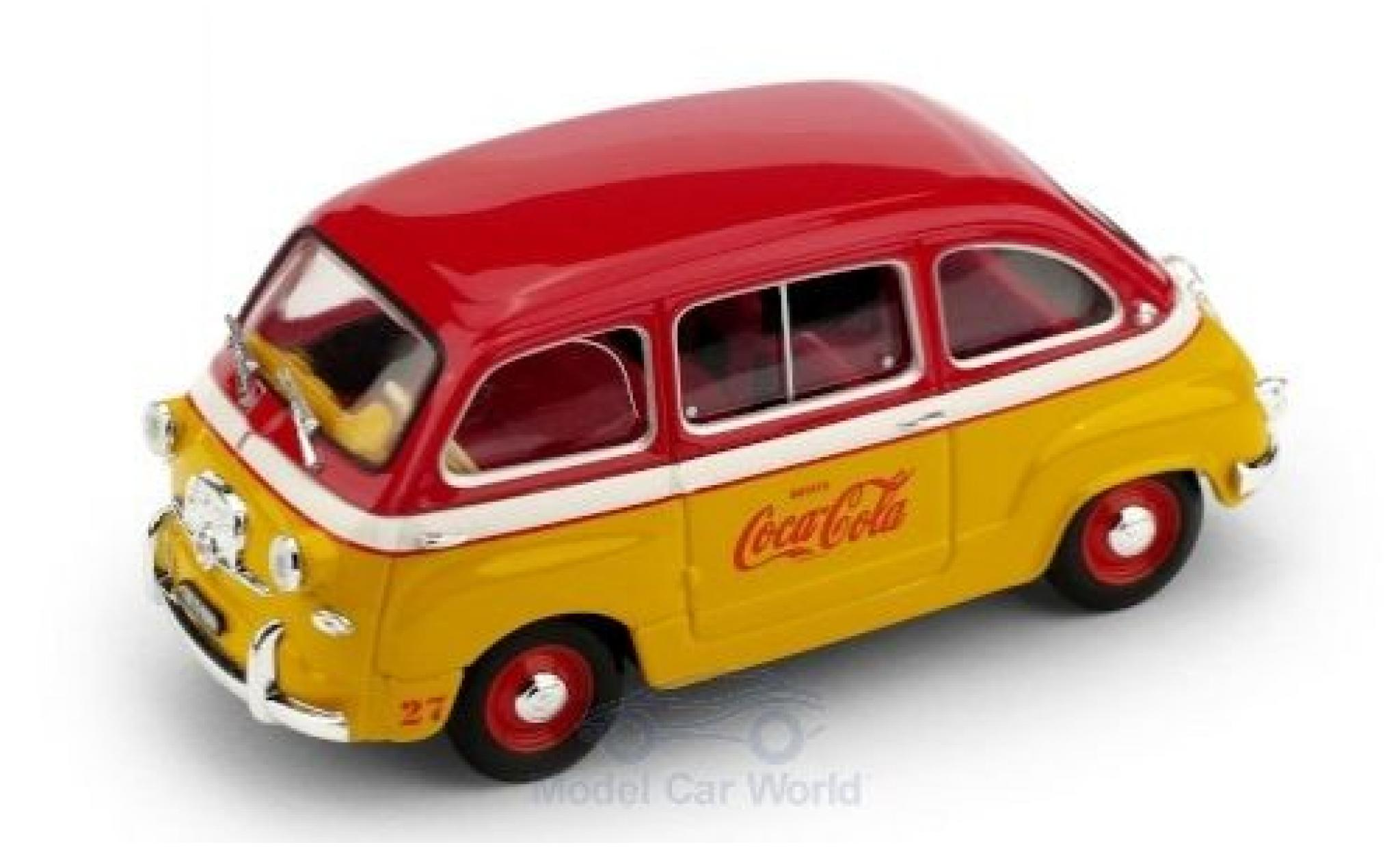 Fiat 600 1/43 Brumm D Multipla Coca Cola 1960 Olympiade Rom