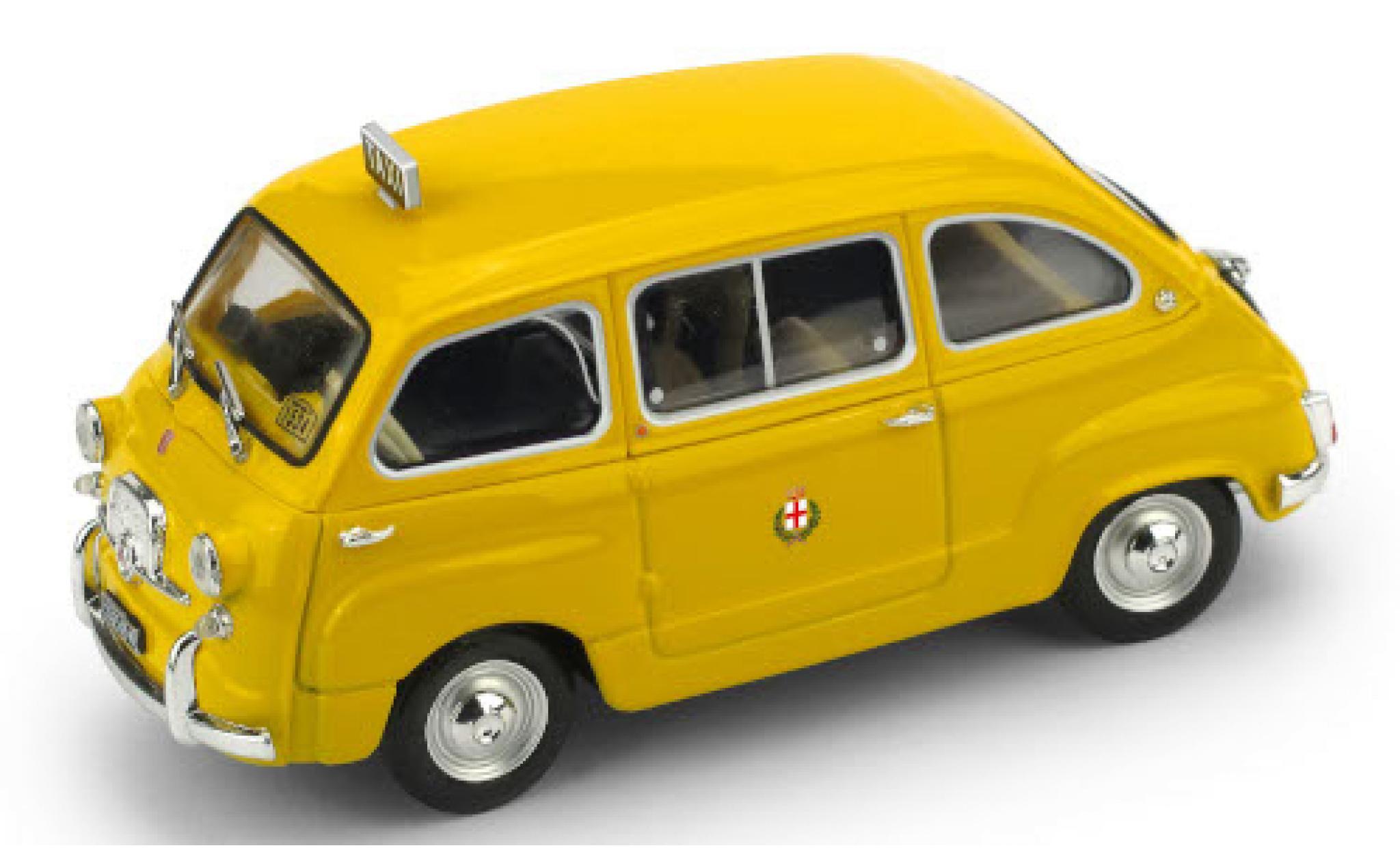 Fiat 600 1/43 Brumm D Multipla Taxi (I) 1970 Taxi di Milano