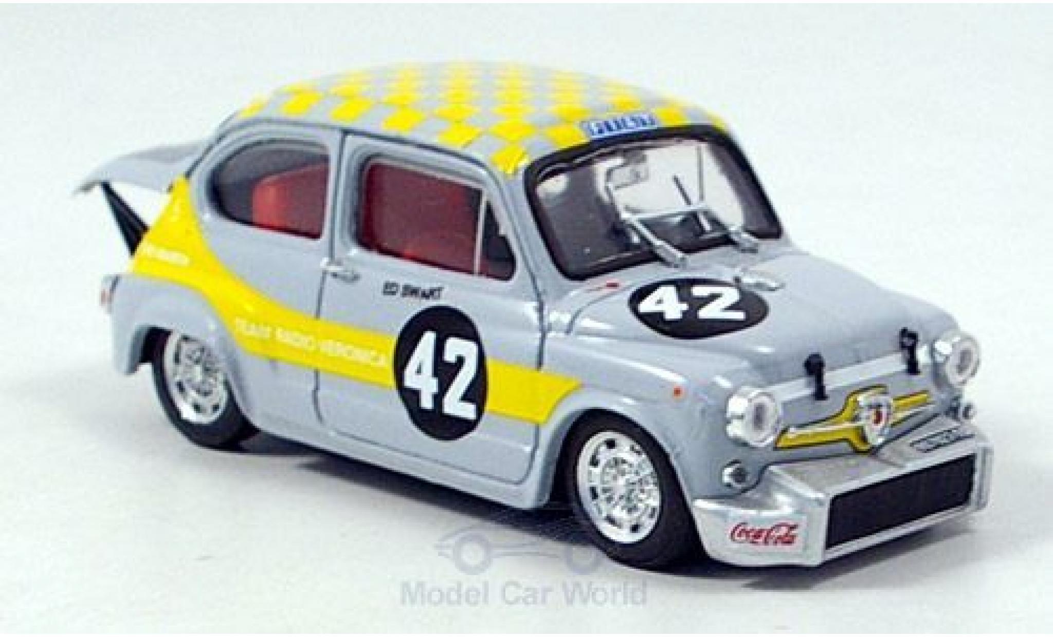 Fiat Abarth 1000 1/43 Brumm Berlina No.42 Team Radio Veronica Zandvoort Trophy 1969 E.Swart