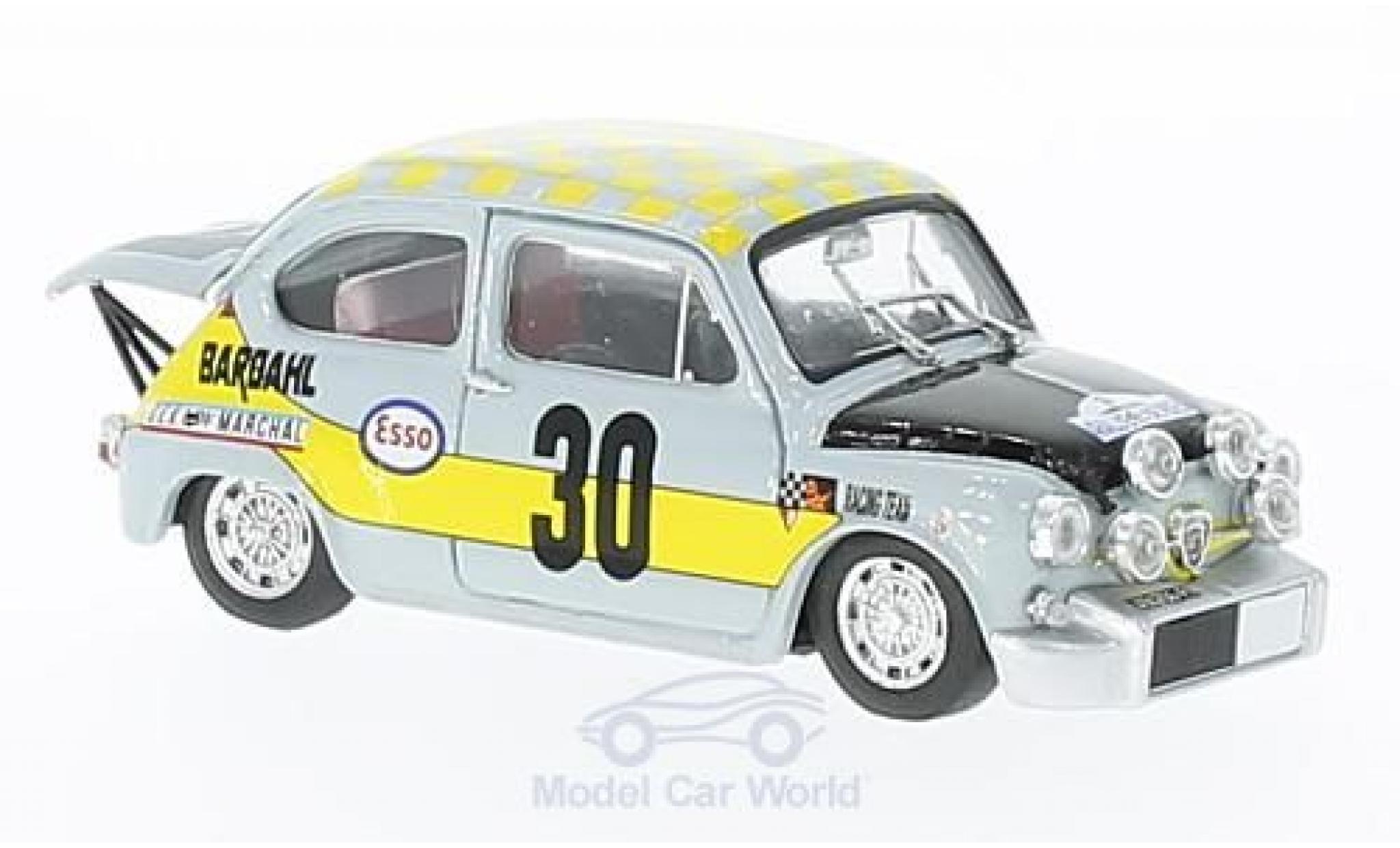 Fiat Abarth 1000 1/43 Brumm No.30 Scuderia Bardahl Rouen 1969 Ficol/Beurden