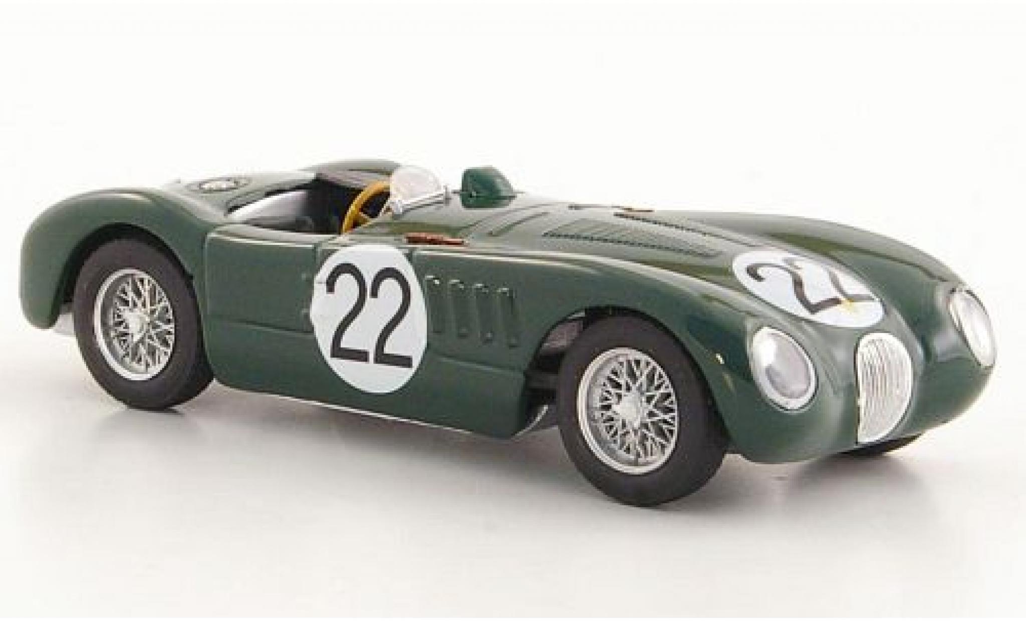Jaguar C-Type 1/43 Brumm RHD No.22 24h Le Mans 1951 Moss Collection S.Moss/J.Fairman