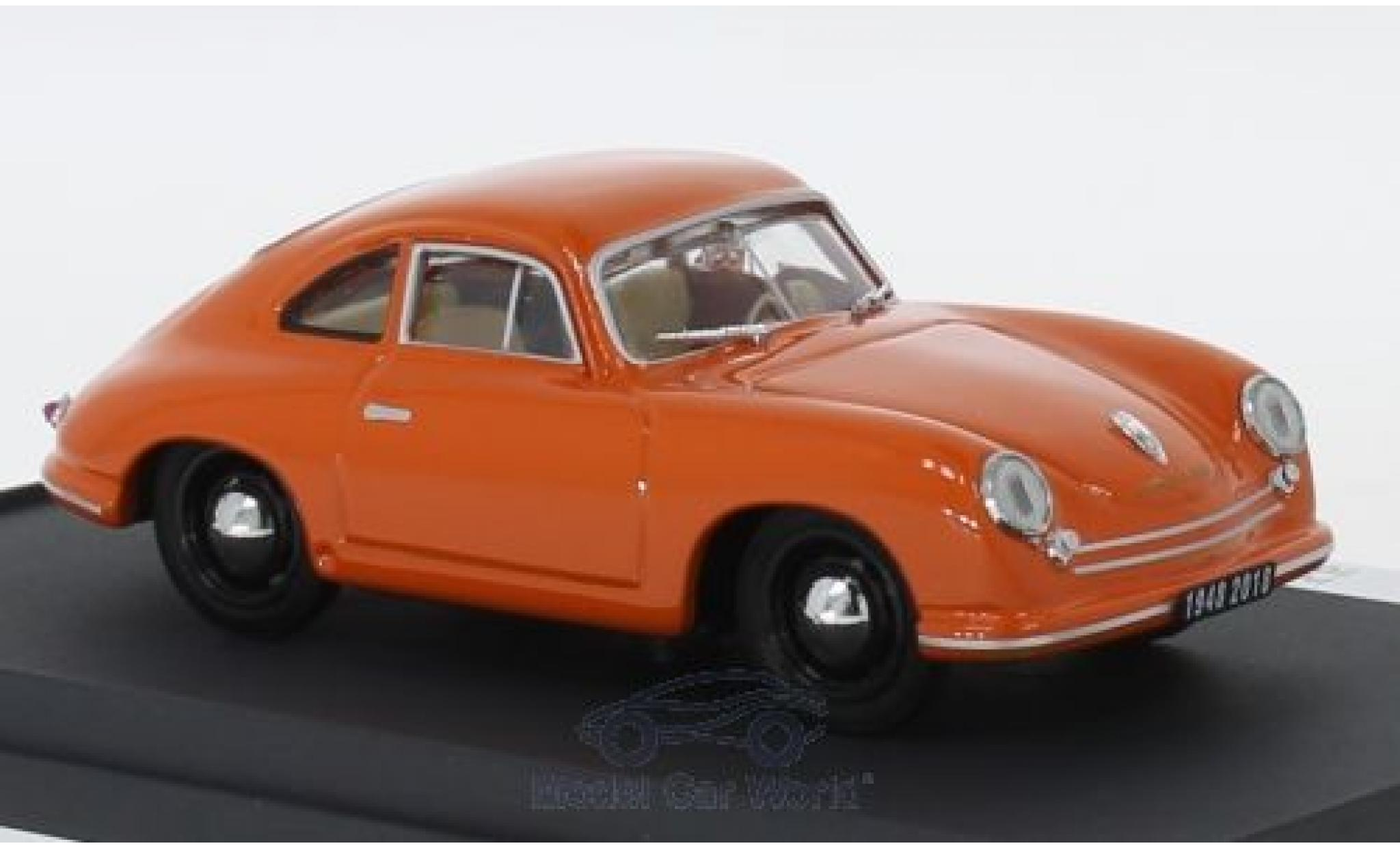 Porsche 356 1/43 Brumm /2 Gmünd orange 1948 Happy Birthday